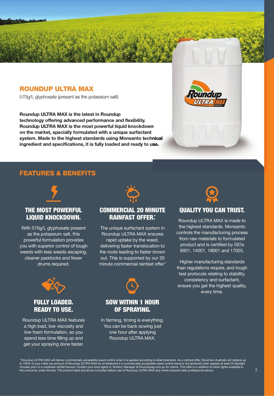 Made To The Highest Standards Using Monsanto Technical Ing And Specifications It Is Fully Loaded