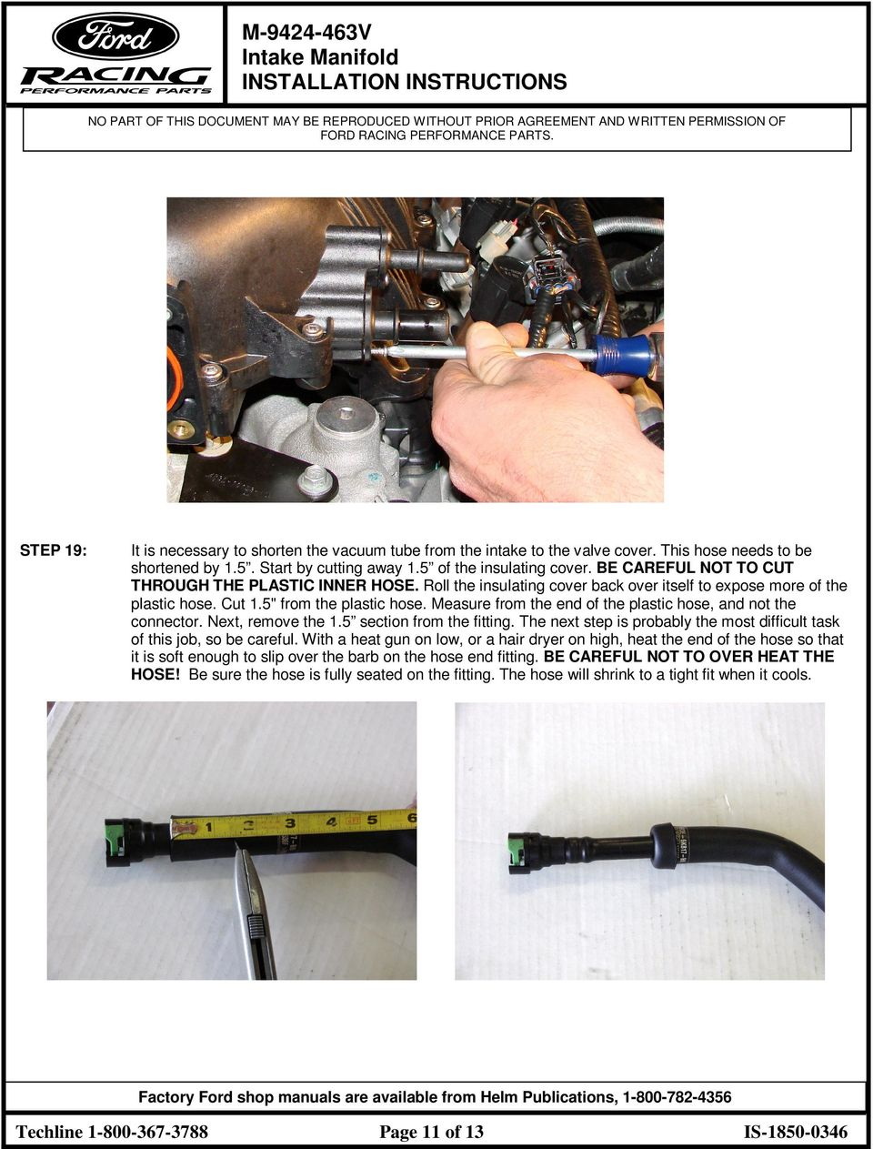 M V Intake Manifold Installation Instructions Pdf Nissan Maxima Radio Wiring Diagram Technical Articles 4th Gen Measure From The End Of Plastic Hose And Not Connector Next
