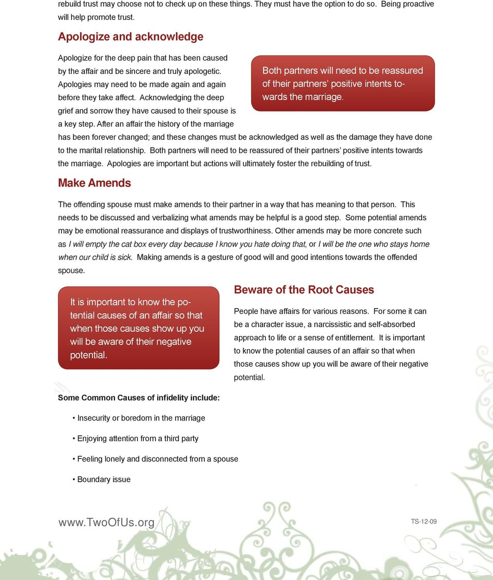 Rebuilding Trust in Your Marriage After an Affair - PDF