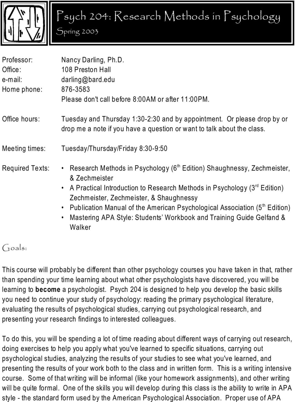 Research Methods In Psychology Shaughnessy Pdf