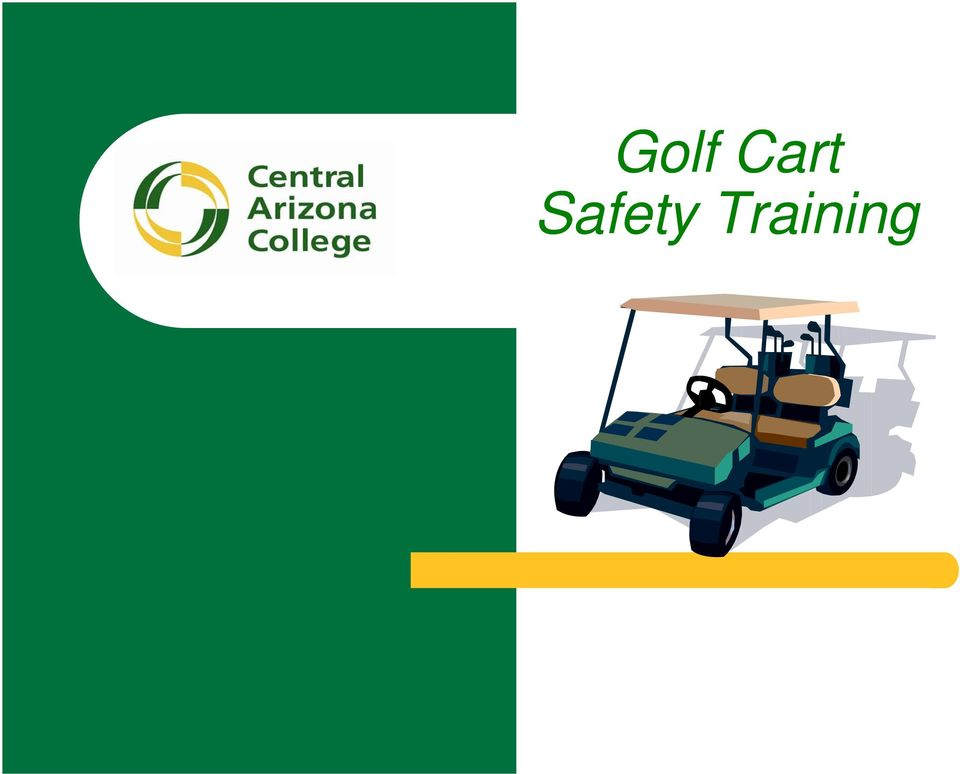 Golf Cart Safety Training - PDF Golf Cart Sign In And Out Procedures on