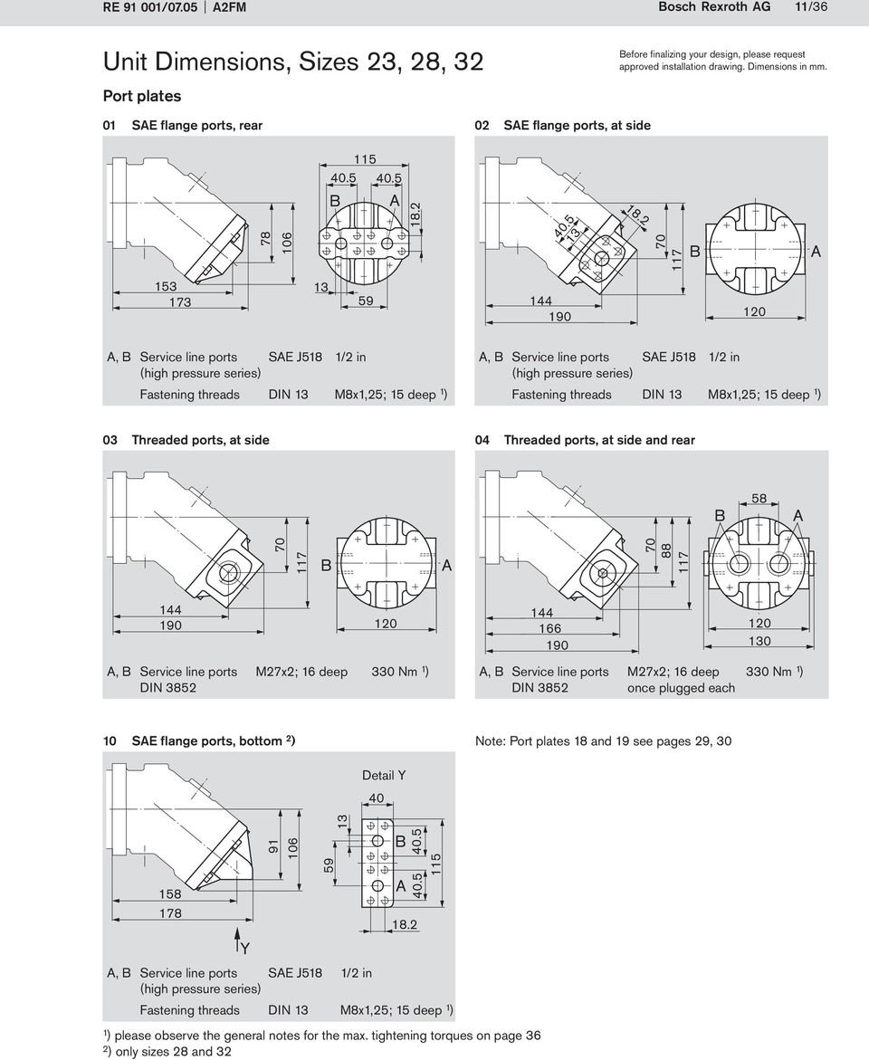 Axial Piston Fixed Displacement Motor A2FM - PDF