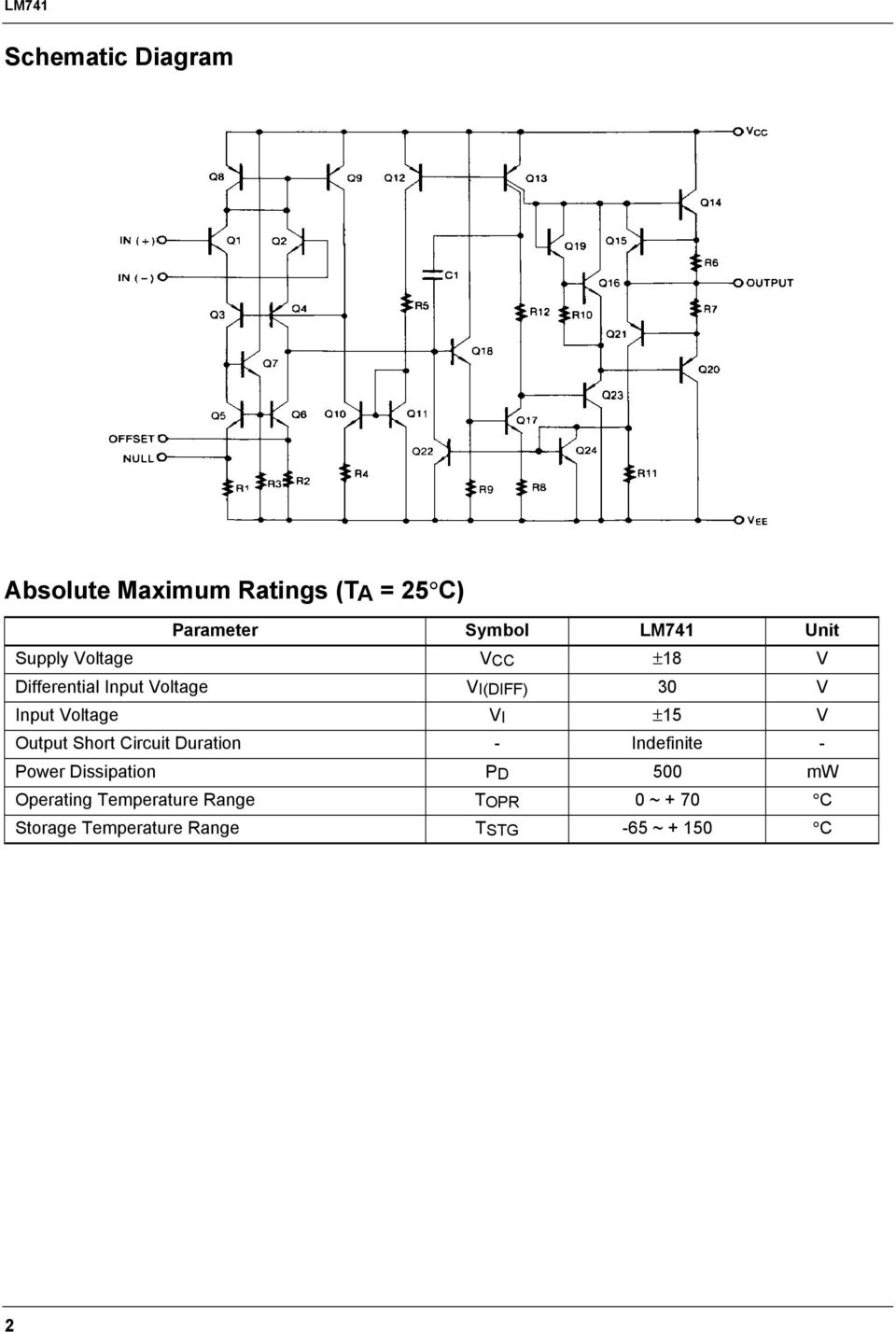 lm741 single operational amplifier features description. Black Bedroom Furniture Sets. Home Design Ideas