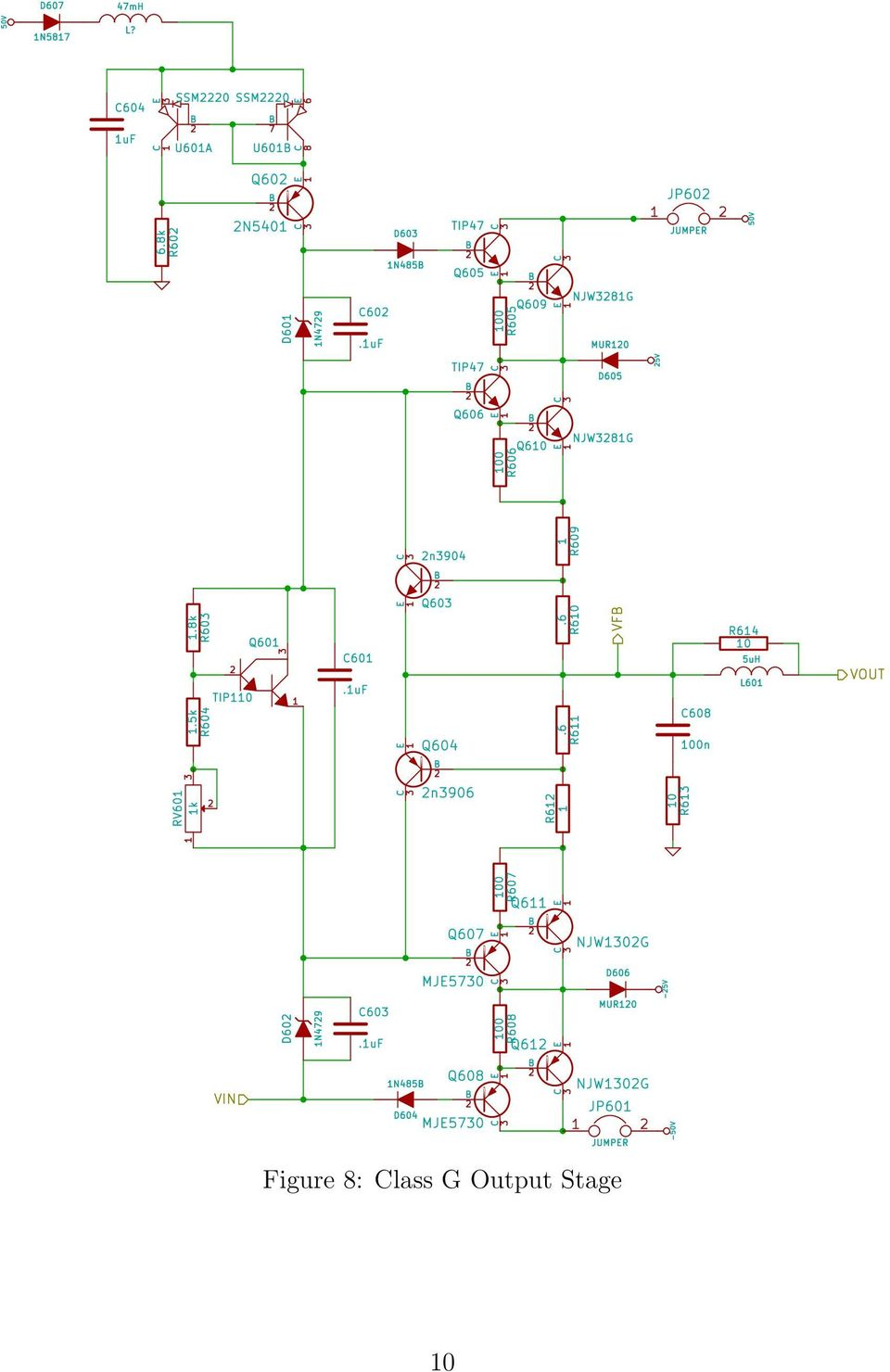 6101 Final Project Report Class G Audio Amplifier Pdf Emitter Preamp Schematic Using 1 Npn Transistor Circuit Drawing 11 Soundwesthostcom Were Very Helpful By The End Of Spring Break My Worked Pretty Well In Ltspice 42 Pcb Design This Is A Fairly Large And
