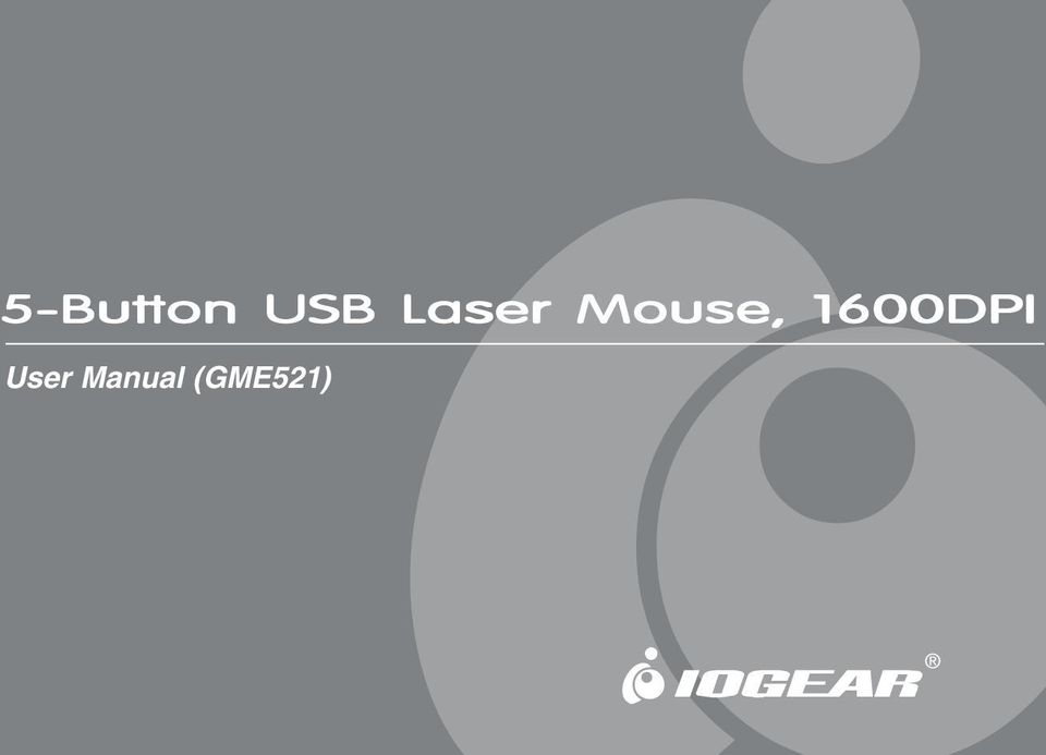 Drivers IOGear 5-Button USB Laser Mouse GME521