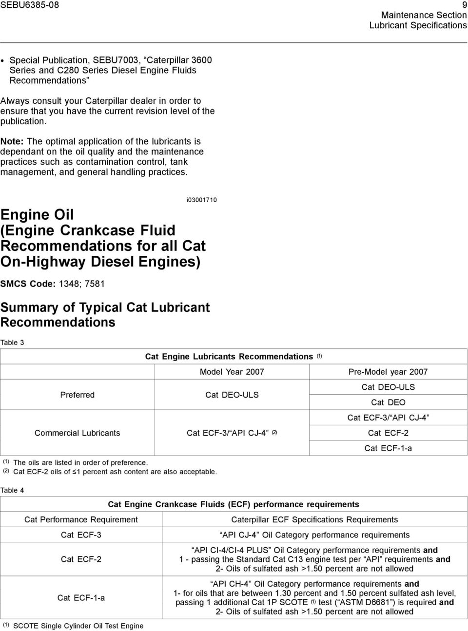 Caterpillar On-Highway Diesel Engine Fluids Recommendations - PDF