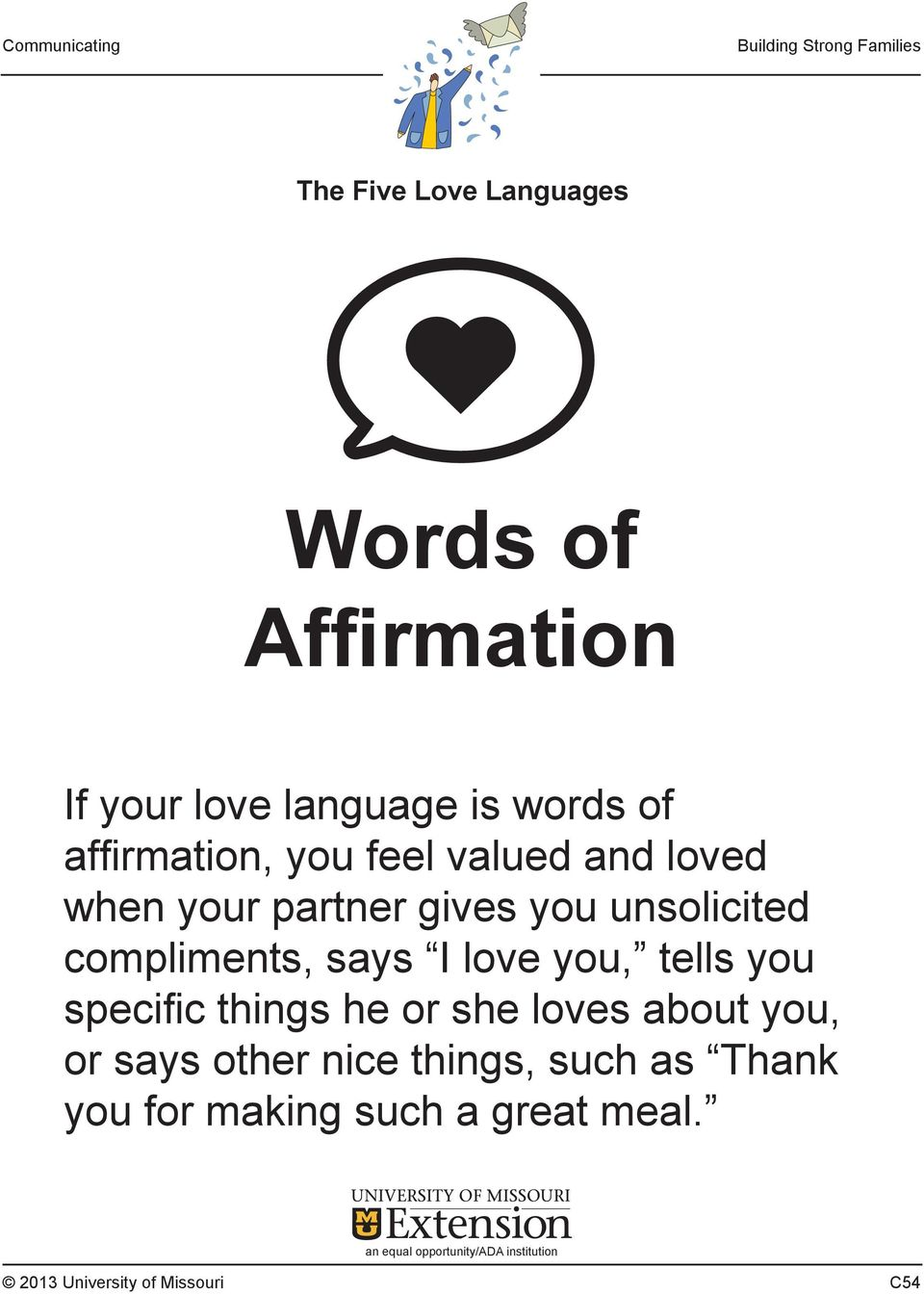Affirmation language love of words How to