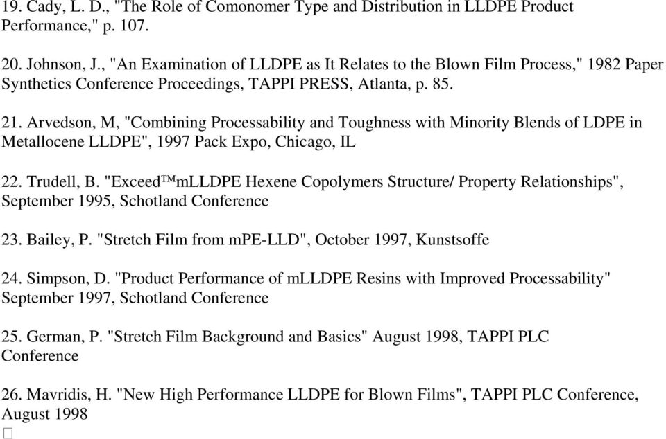 Metallocene Linear Low-Density Polyethylene - PDF