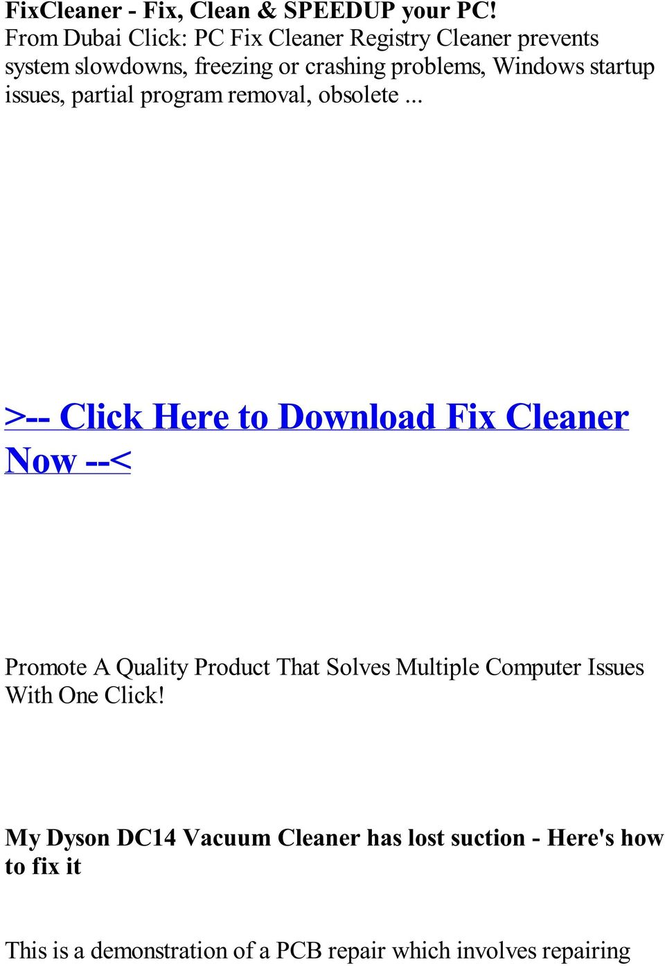 Reviews Fix Cleaner full book download free - PDF