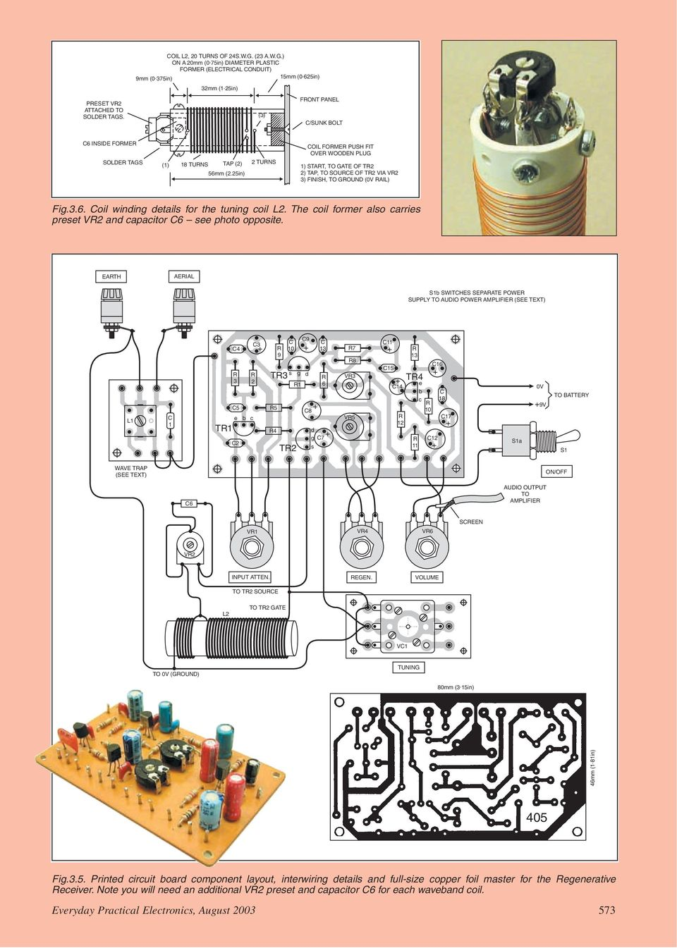 Practical Radio Circuits Pdf Download Image Bc549c Condenser Microphone Pre Amplifier Schematics Pc 25in 2 Tuns Coil Fome Push Fit Ove Wooden Plug 1 Stat To
