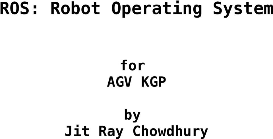 ROS: Robot Operating System - PDF