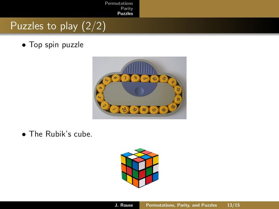 Permutations, Parity, and Puzzles - PDF