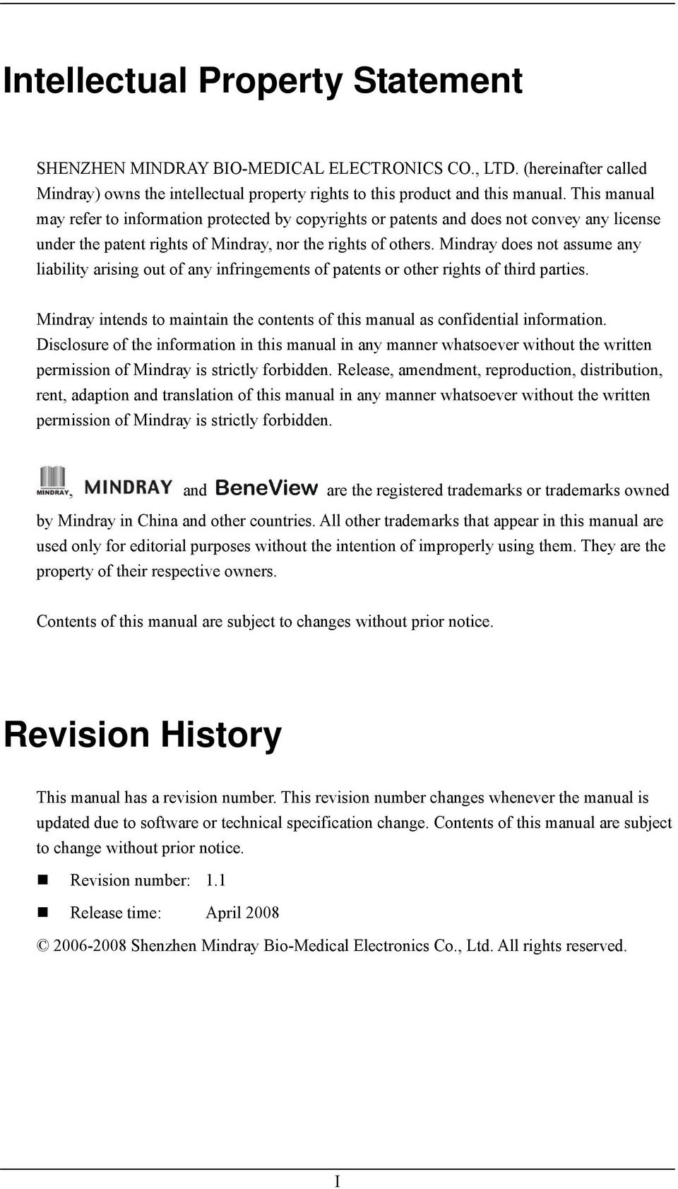 BeneView T8  Patient Monitor  Service Manual - PDF
