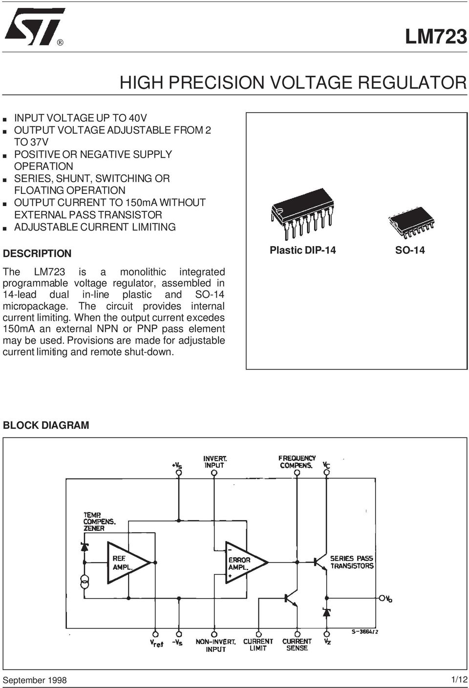 Stabiliziran Usmernik 1 30v 0 3a Digitalni V A Meter Pdf Proximity Sensor Using Ic Lm339 Circuit Diagram For Line Follower Voltage Regulator Assembled In 14 Lead Dual Plastic And So