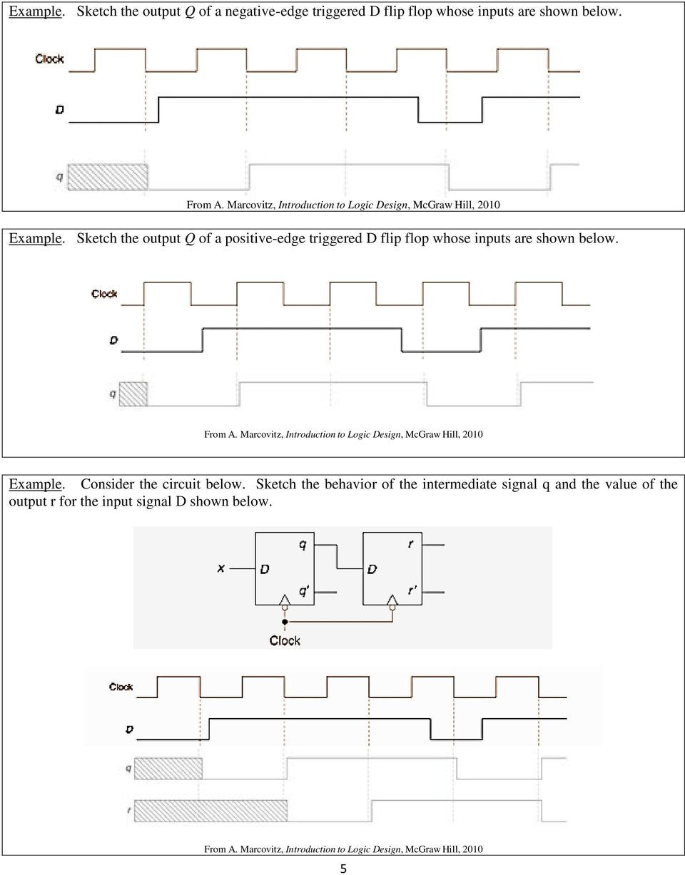 Lesson 12 Sequential Circuits Flip Flops Pdf D Flop Logic Diagram And Truth Table Sketch The Output Of A Positive Edge Triggered Whose Inputs Are Shown