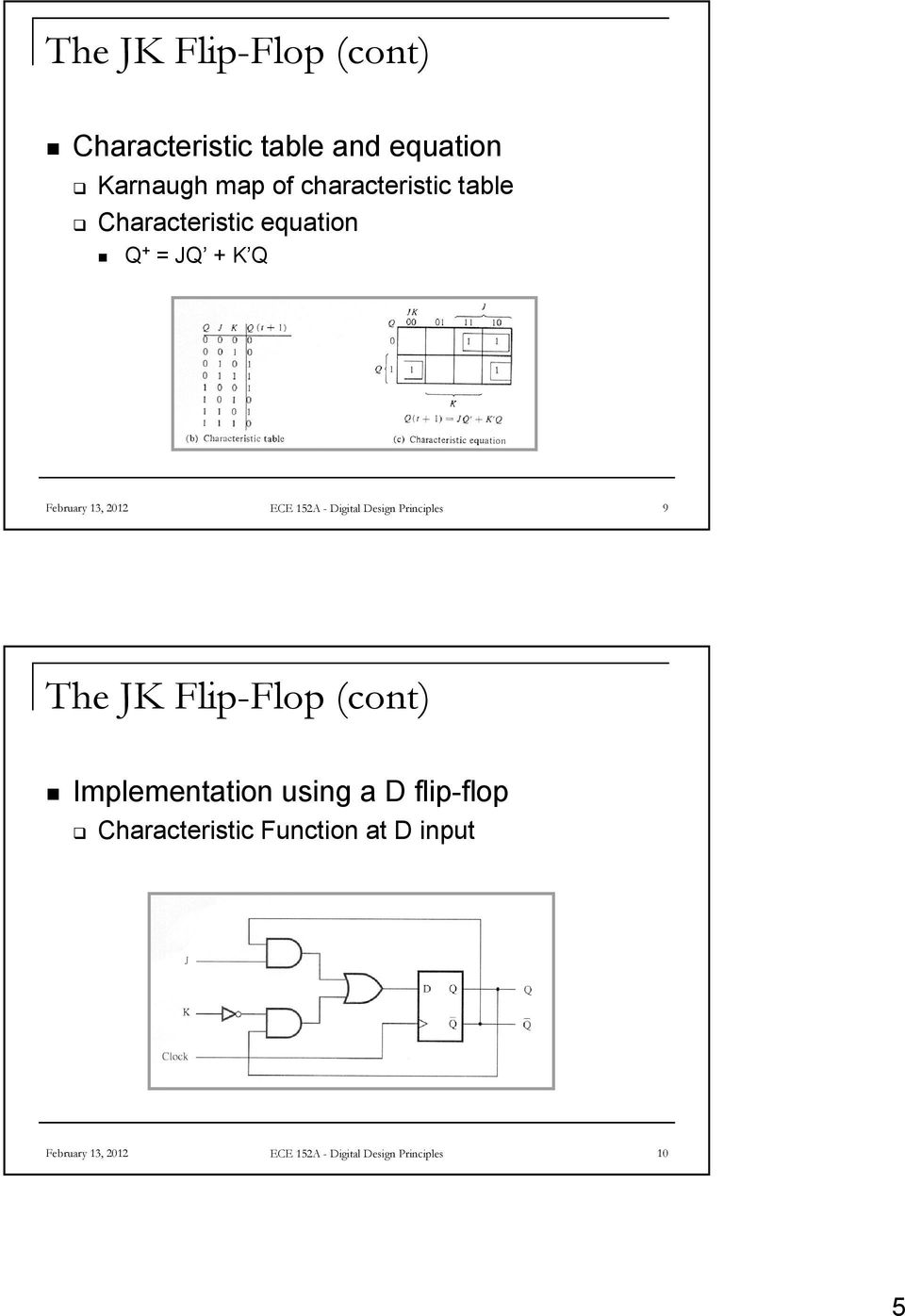 Alternate Flip Flop Circuits D Using Nor Latches Flops And Sequential Circuit Design Pdf Digital Principles 9 The Jk Cont Implementation A