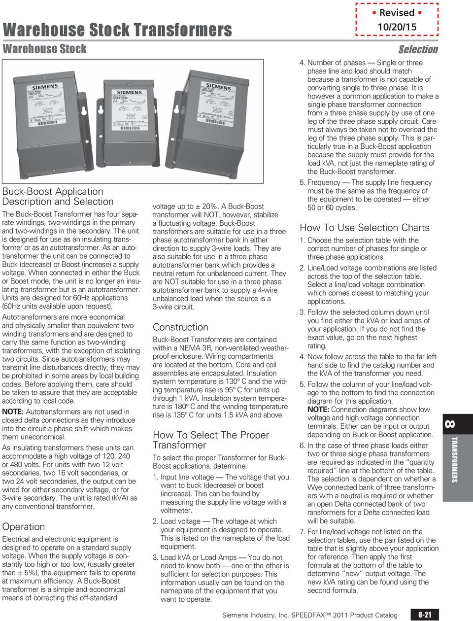Distribution Dry Type Transformers Pdf Siemens Transformer Wiring Diagram When Connected In Either The Buck Or Boost Mode Unit Is No Longer An