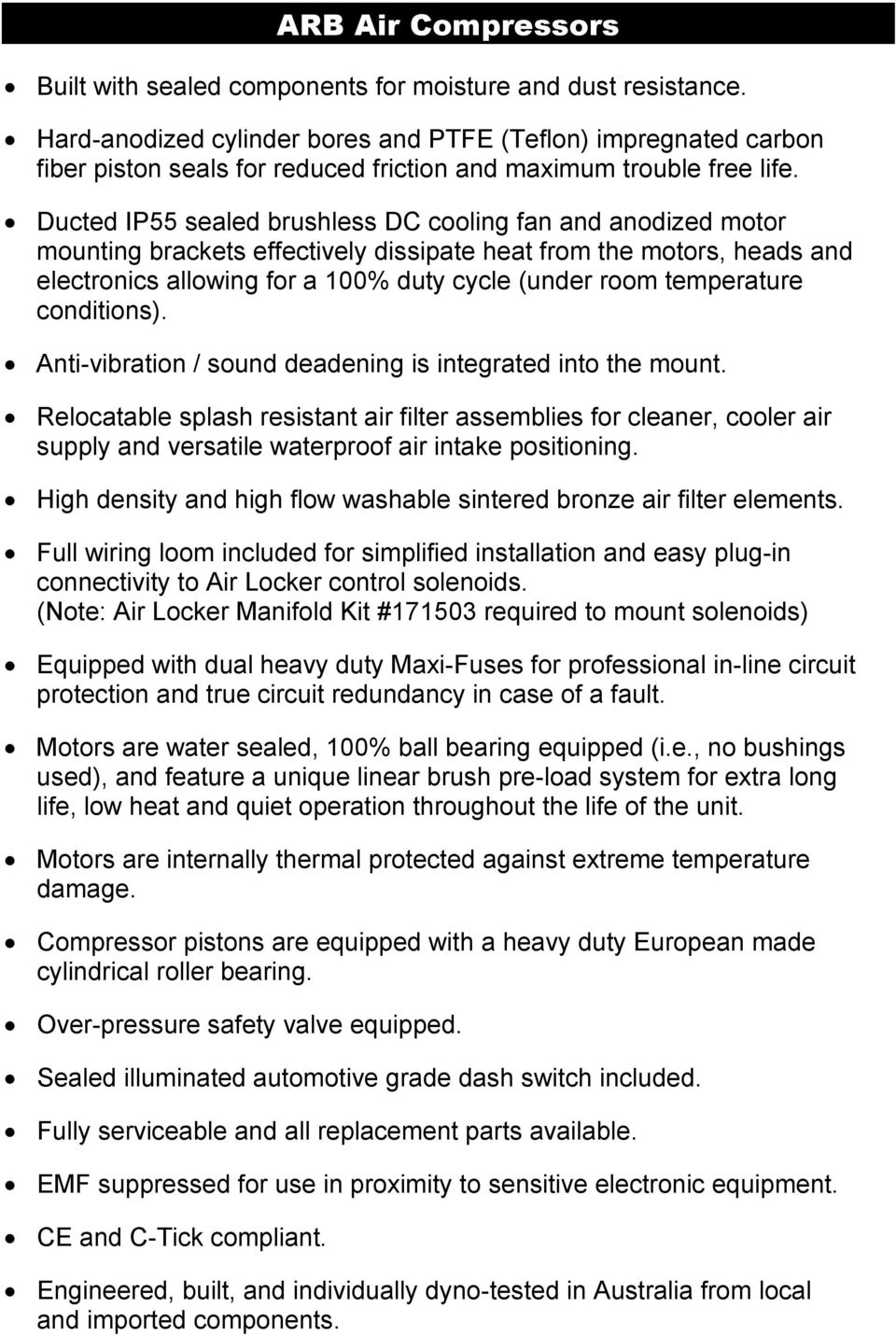 Product Release Ckmta12 24 Copyright 2011 By Arb Corporation Maxi Fuse Installed Wiring Harness Temperature Conditions Anti Vibration Sound Deadening Is Integrated Into The Mount