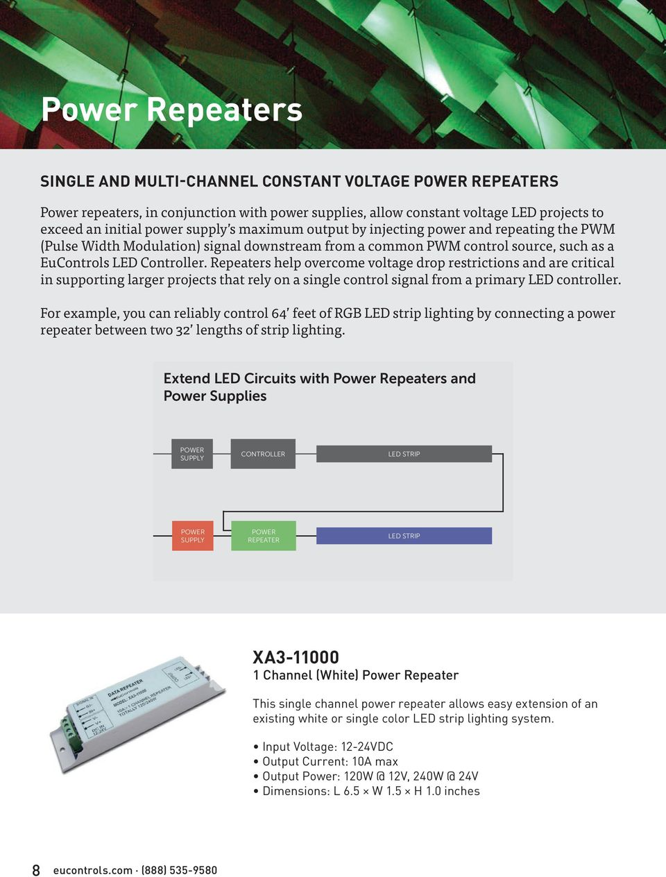 Product Catalog Pdf Home Led Dimmers Dimmer 3 Circuits Rgb 3a Max Repeaters Help Overcome Voltage Drop Restrictions And Are Critical In Supporting Larger Projects That Rely On
