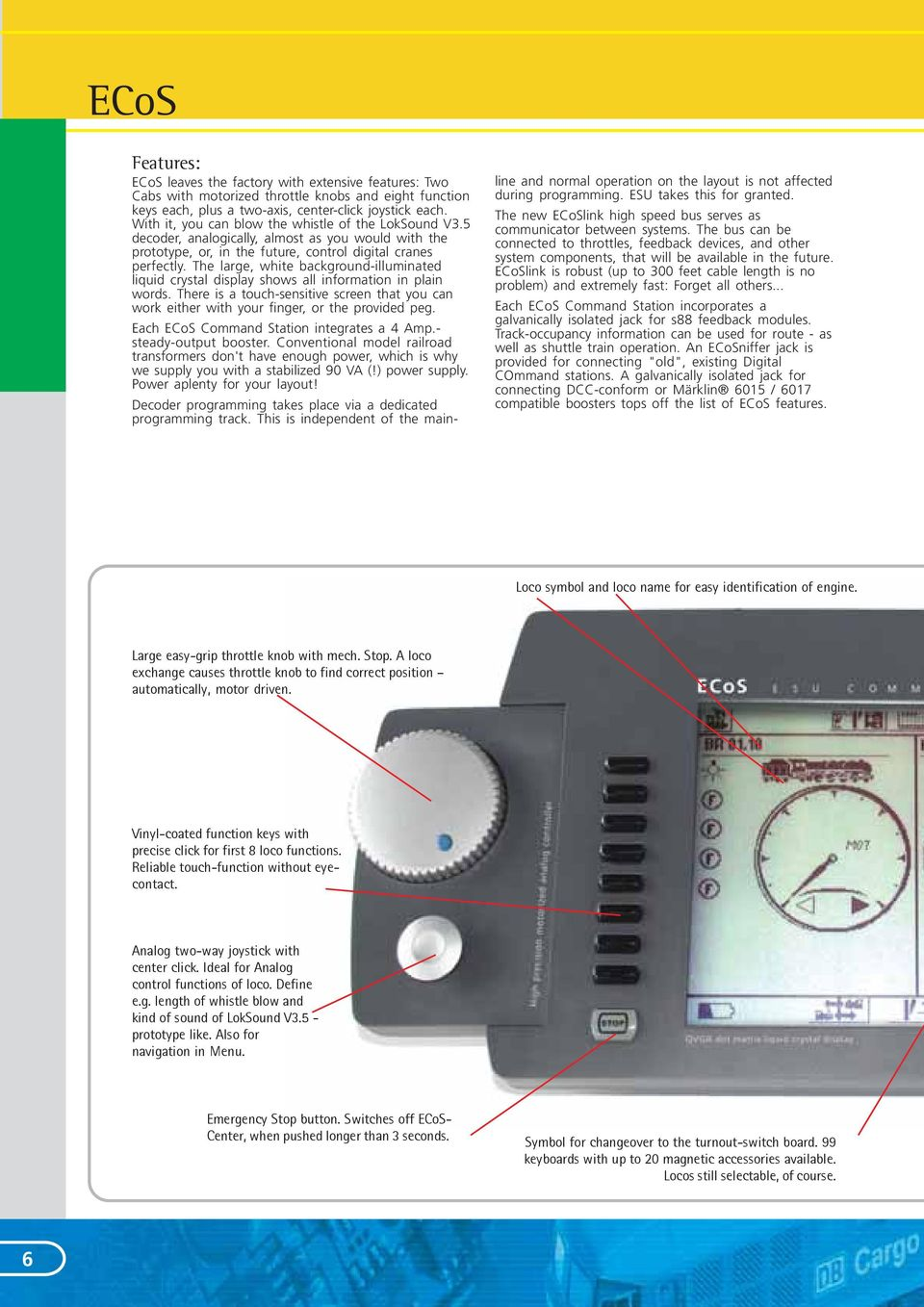 Esu Its Mir Gmbh Halabas Pdf Picaxe Model Railroad Speed Controller The Large White Background Illuminated Liquid Crystal Display Shows All Information In Plain Words