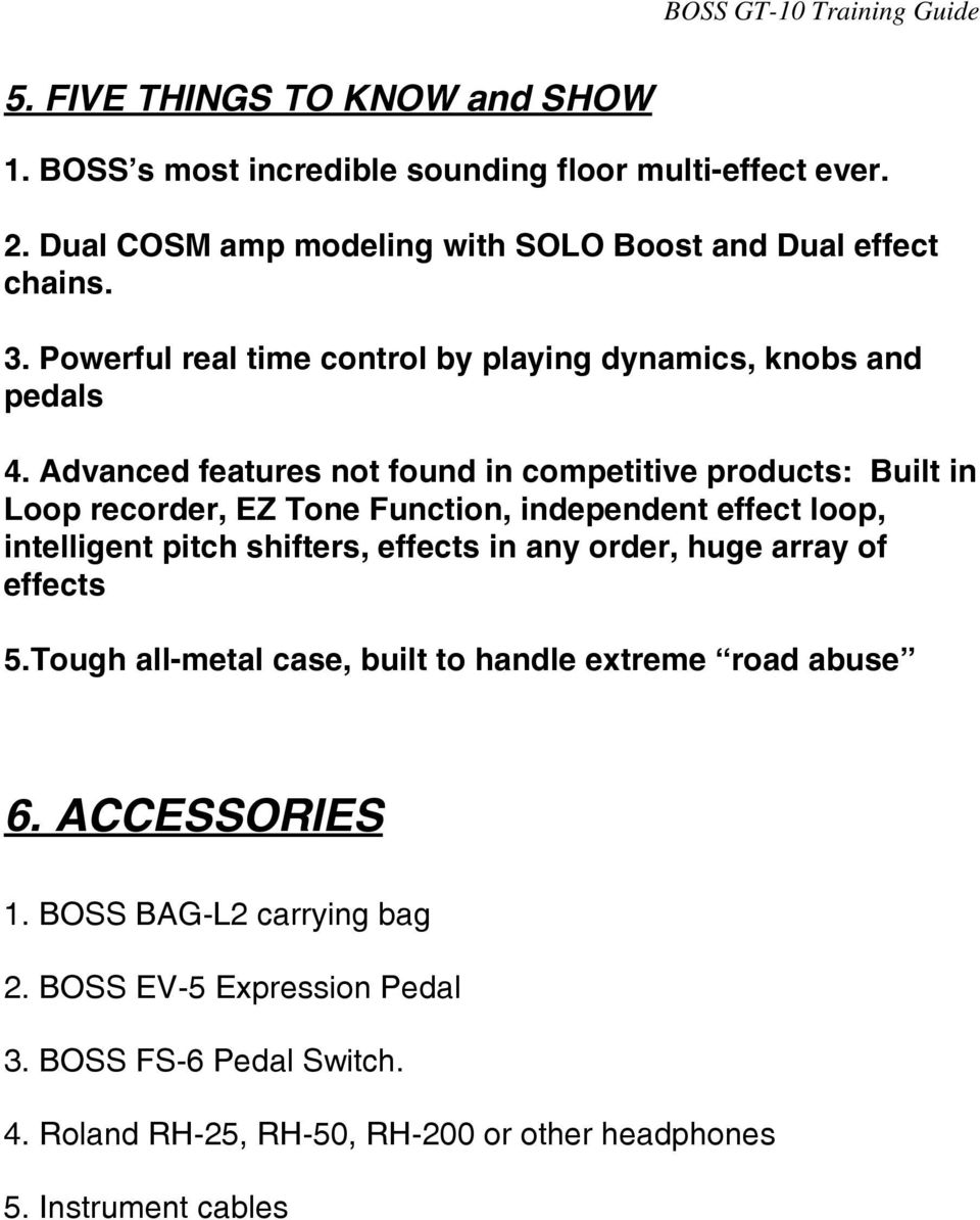 Boss Gt 10 Guitar Effects Processor Training Guide Pdf This Is The Wiring Schematic For Roland Ev5 Expression Footpedal Advanced Features Not Found In Competitive Products Built Loop Recorder Ez Tone Function