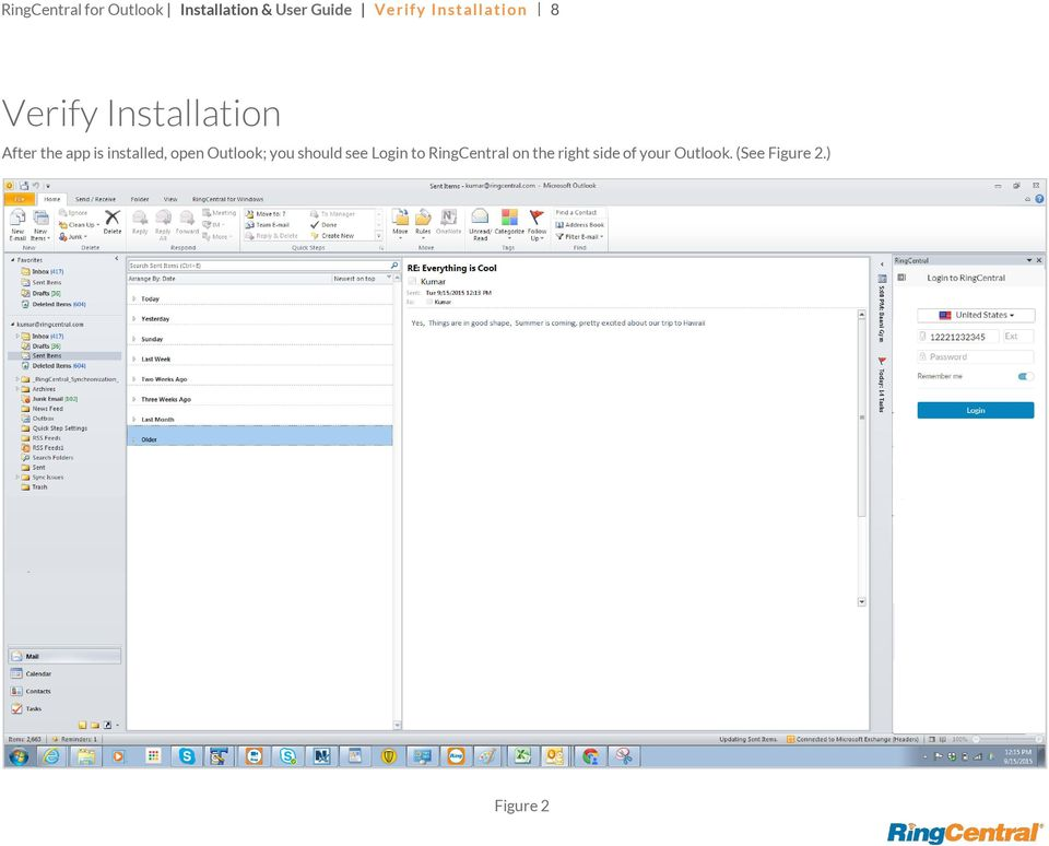 RingCentral for Outlook  Installation & User Guide - PDF