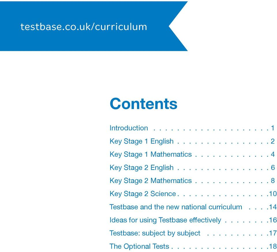 the testbase guide to the new national curriculum tests