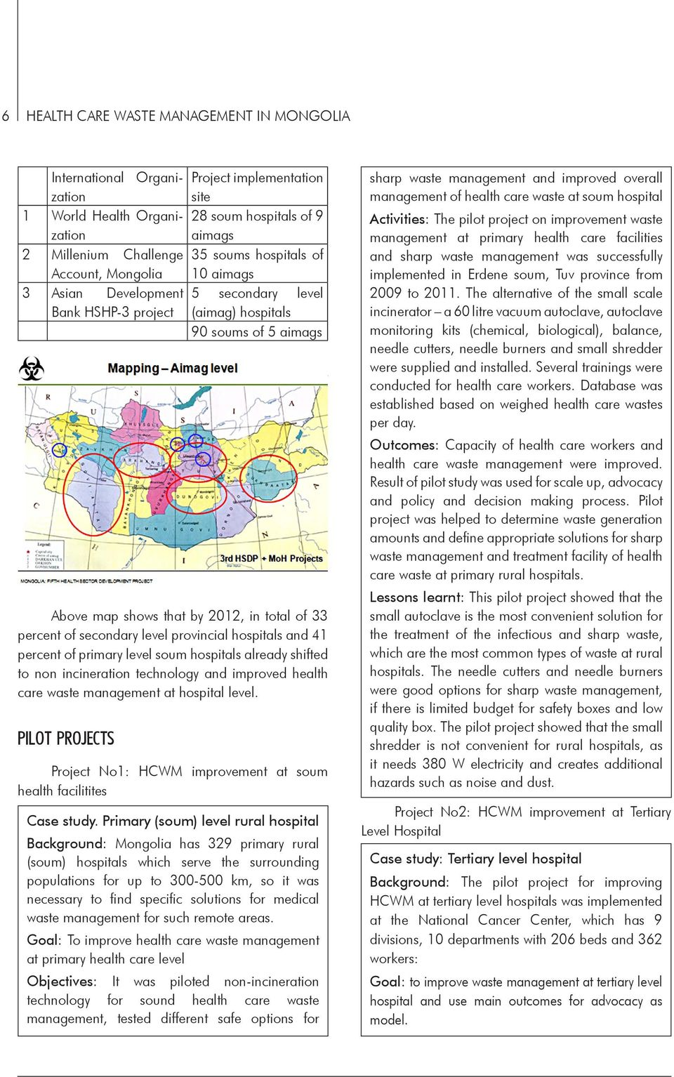 HEALTH CARE WASTE MANAGEMENT IN MONGOLIA - PDF