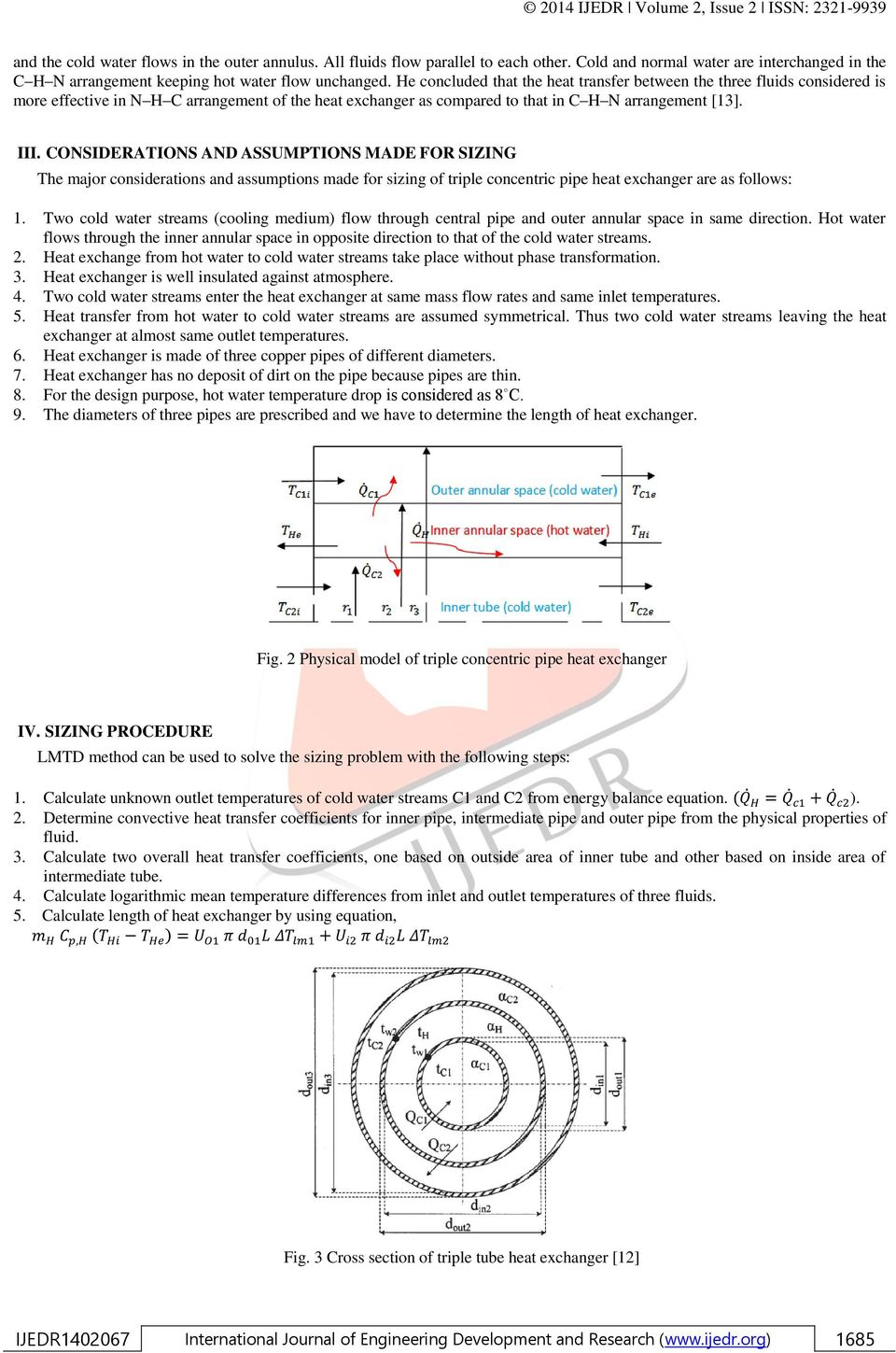 Sizing of triple concentric pipe heat exchanger - PDF