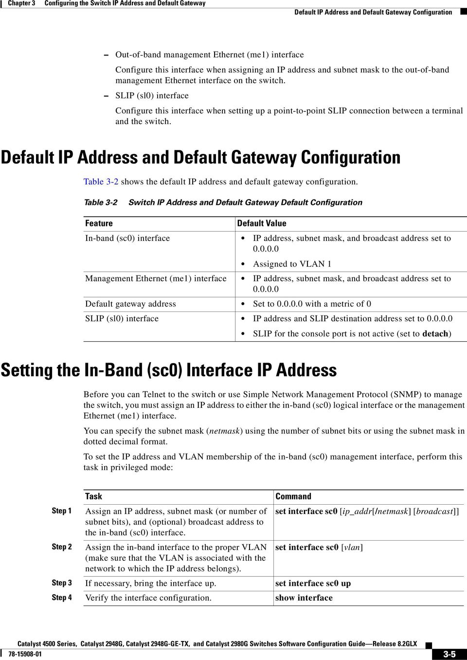 Configuring the Switch IP Address and Default Gateway - PDF
