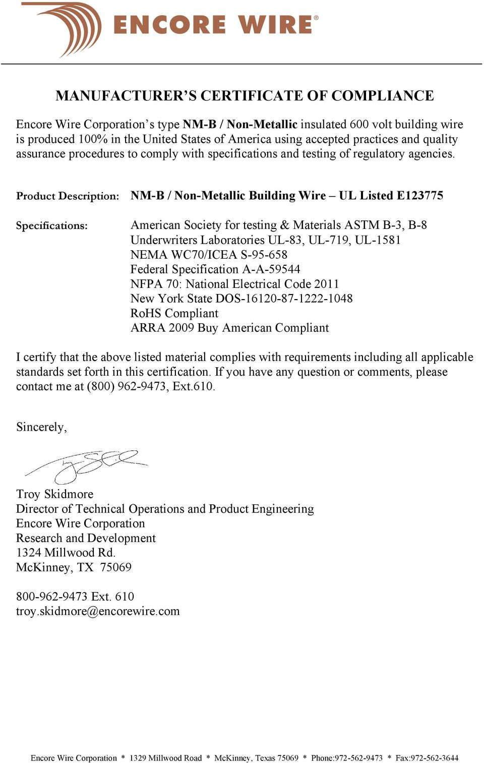 Pretty Nm B Wire Spec Images Galleryelectrical Size Required 100 Ft 12 2 Yellow Solid Simpull Nmb Wire28828228 The Home Depot Manufacturer S Certificate Of Compliance Pdf