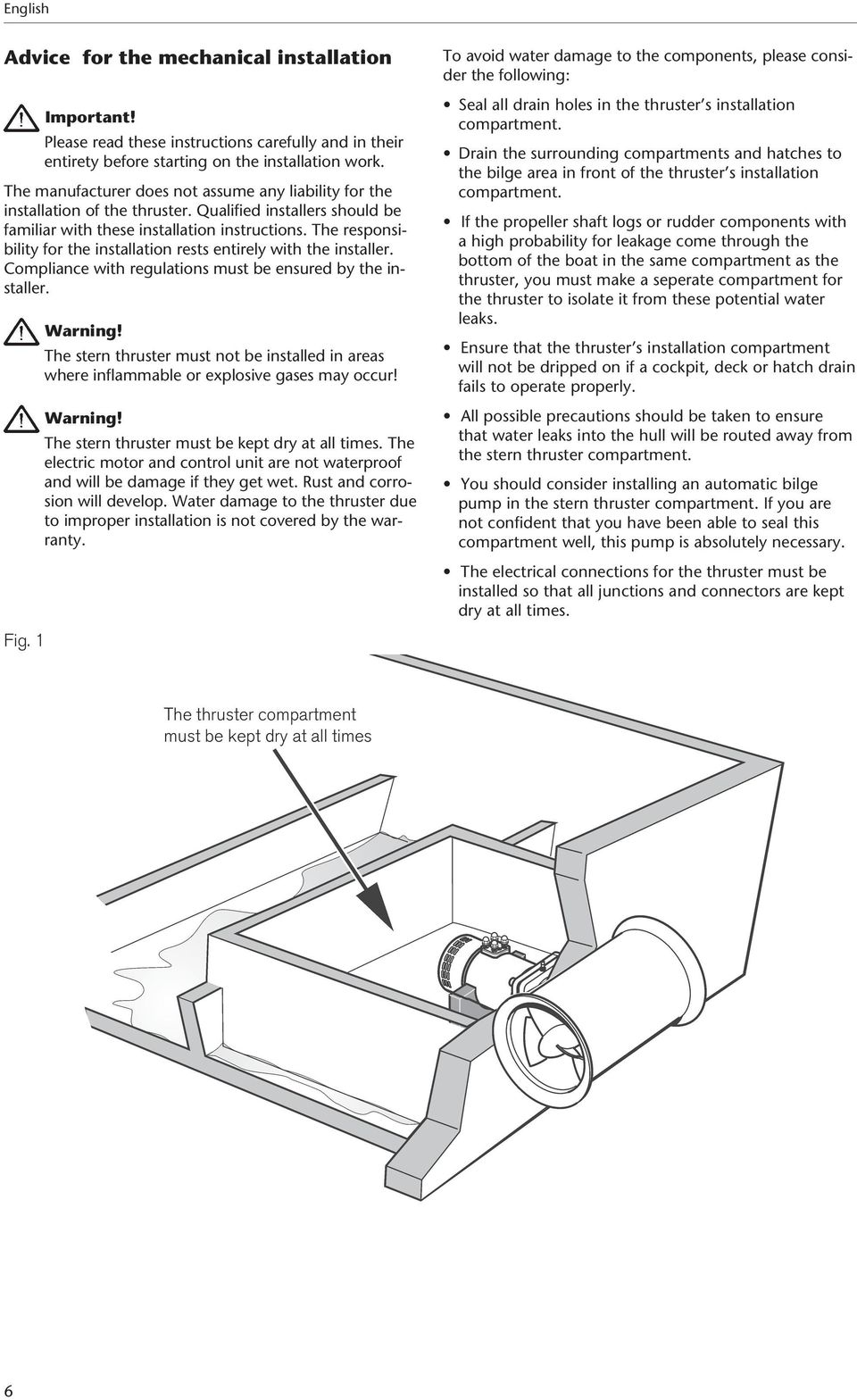 Volvo Penta Bow Thruster Wiring Diagram Golden Schematic D275 The Responsibility For Installation Rests Entirely With Installer Compliance Regulations Must Be