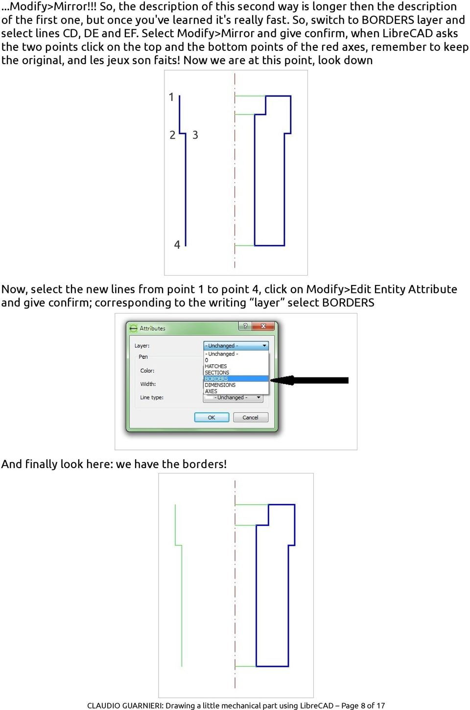 Drawing A Little Mechanical Part Using Librecad Pdf