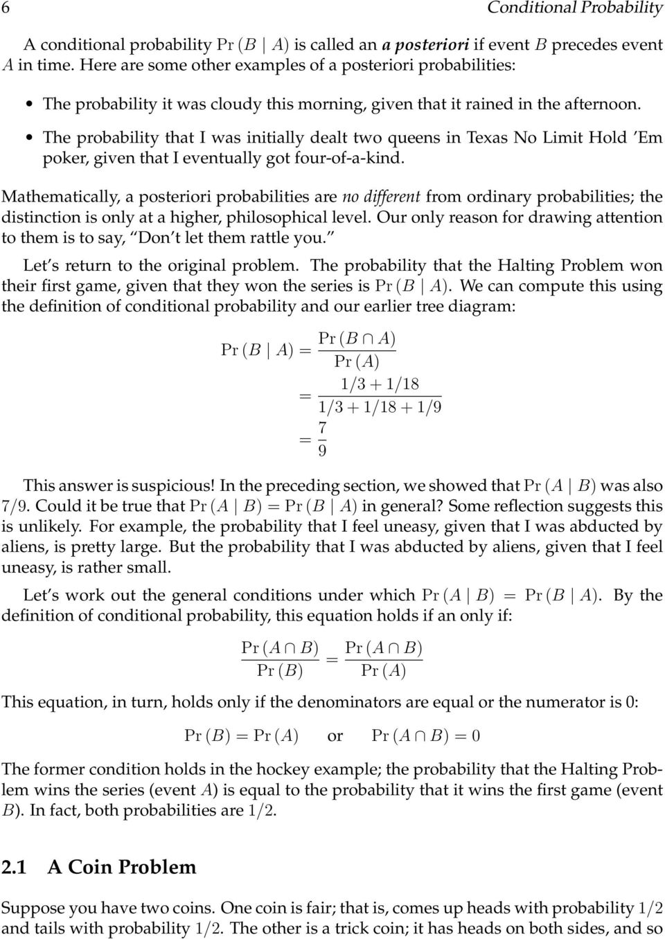 Conditional Probability - PDF
