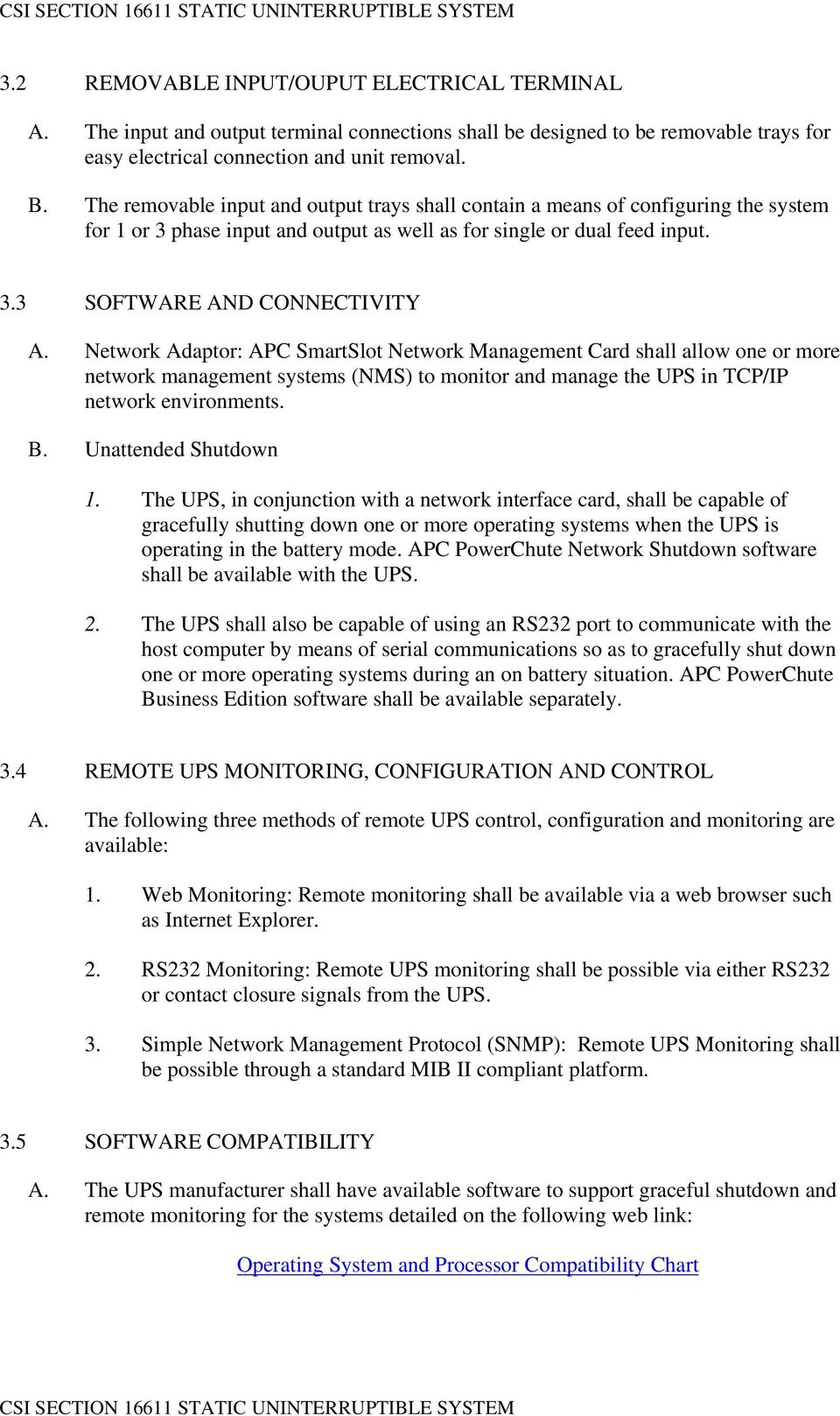 Apc Smart Ups Rt Guide Specifications For 15kva And 20kva Wiring Diagram Network Adaptor Smartslot Management Card Shall Allow One Or More Systems