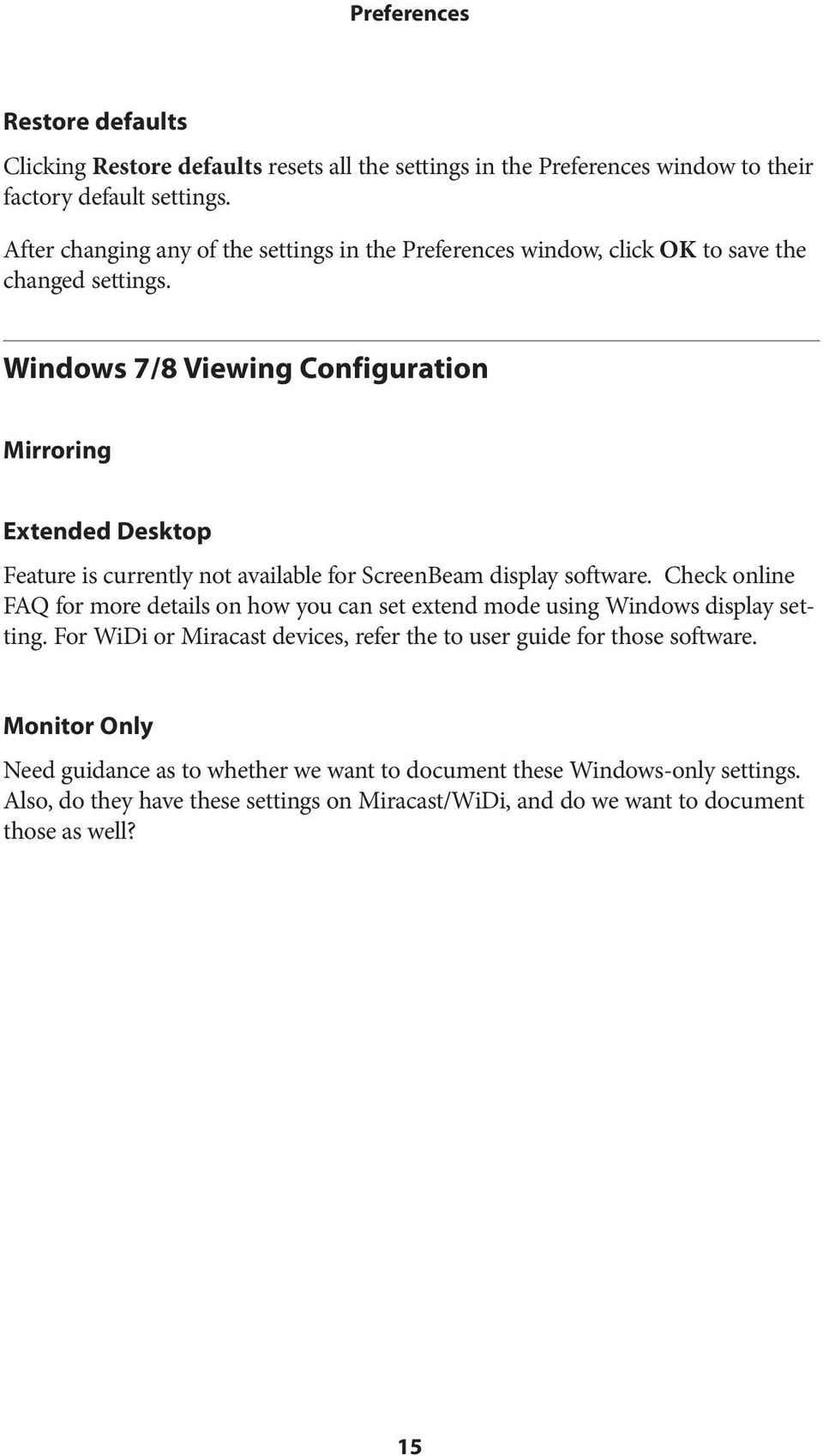 ScreenBeam Wireless Display Kit  User Manual  Solutions for the