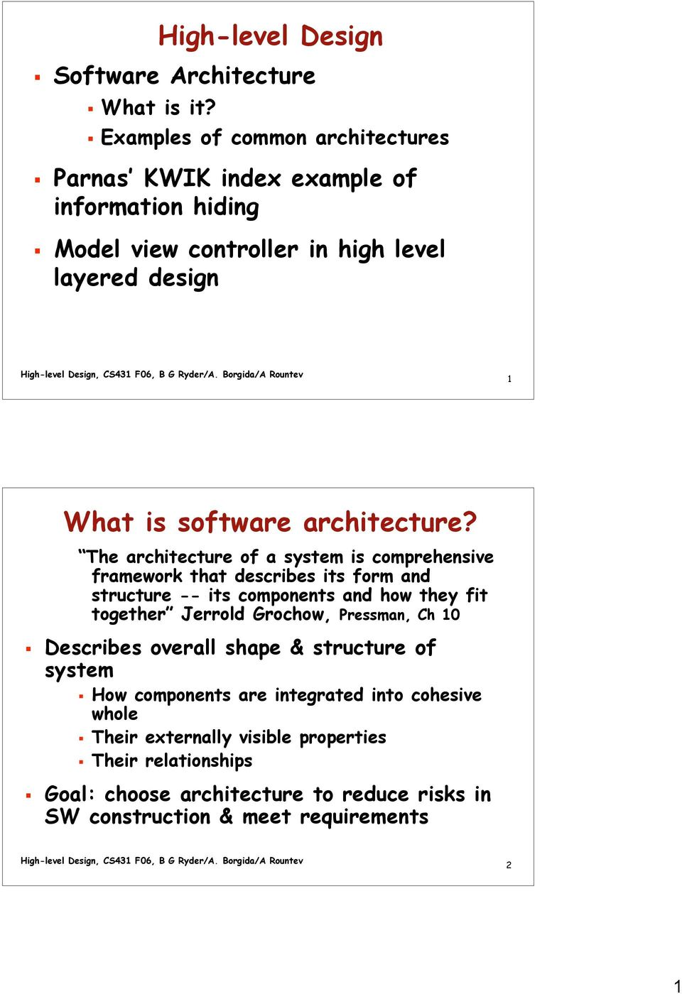 High Level Design What Is Software Architecture Pdf Free Download