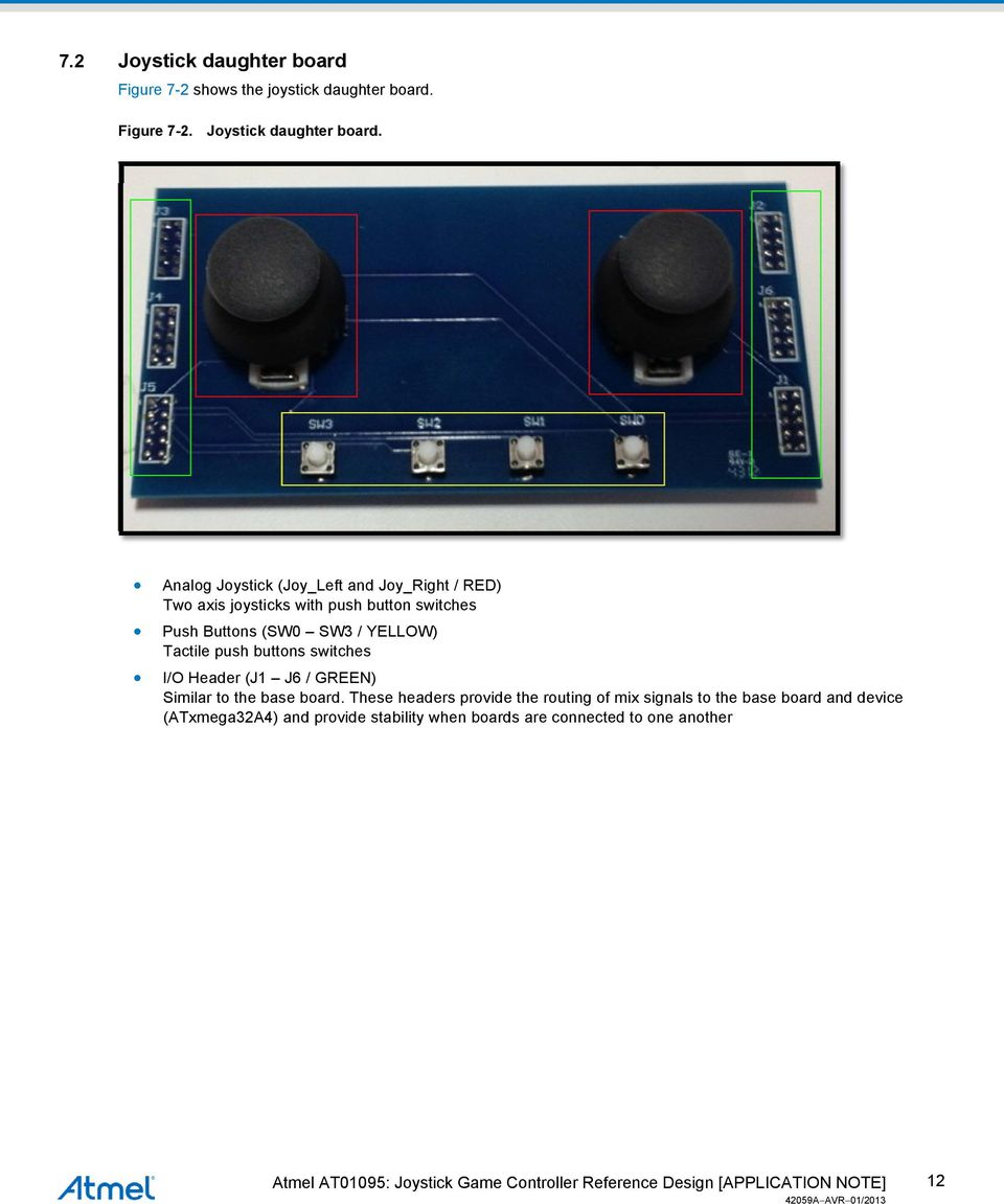 APPLICATION NOTE  Atmel AT01095: Joystick Game Controller