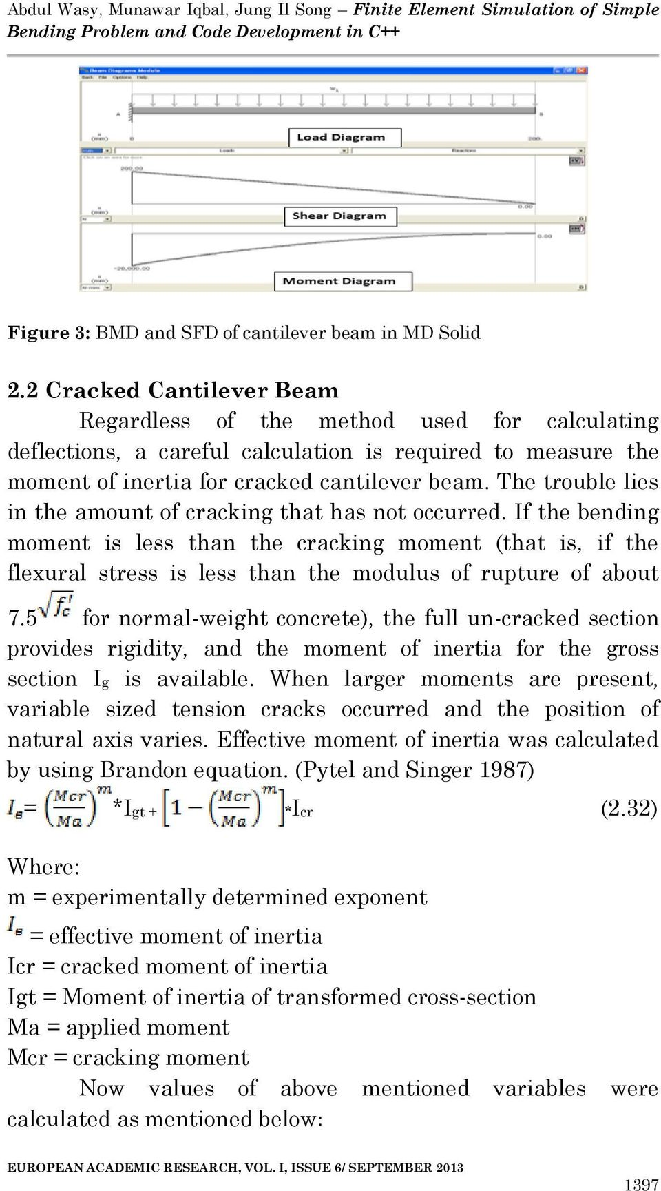 Finite Element Simulation Of Simple Bending Problem And Code Text Draw The Shear Bendingmoment Diagrams For Beam Trouble Lies In Amount Cracking That Has Not Occurred