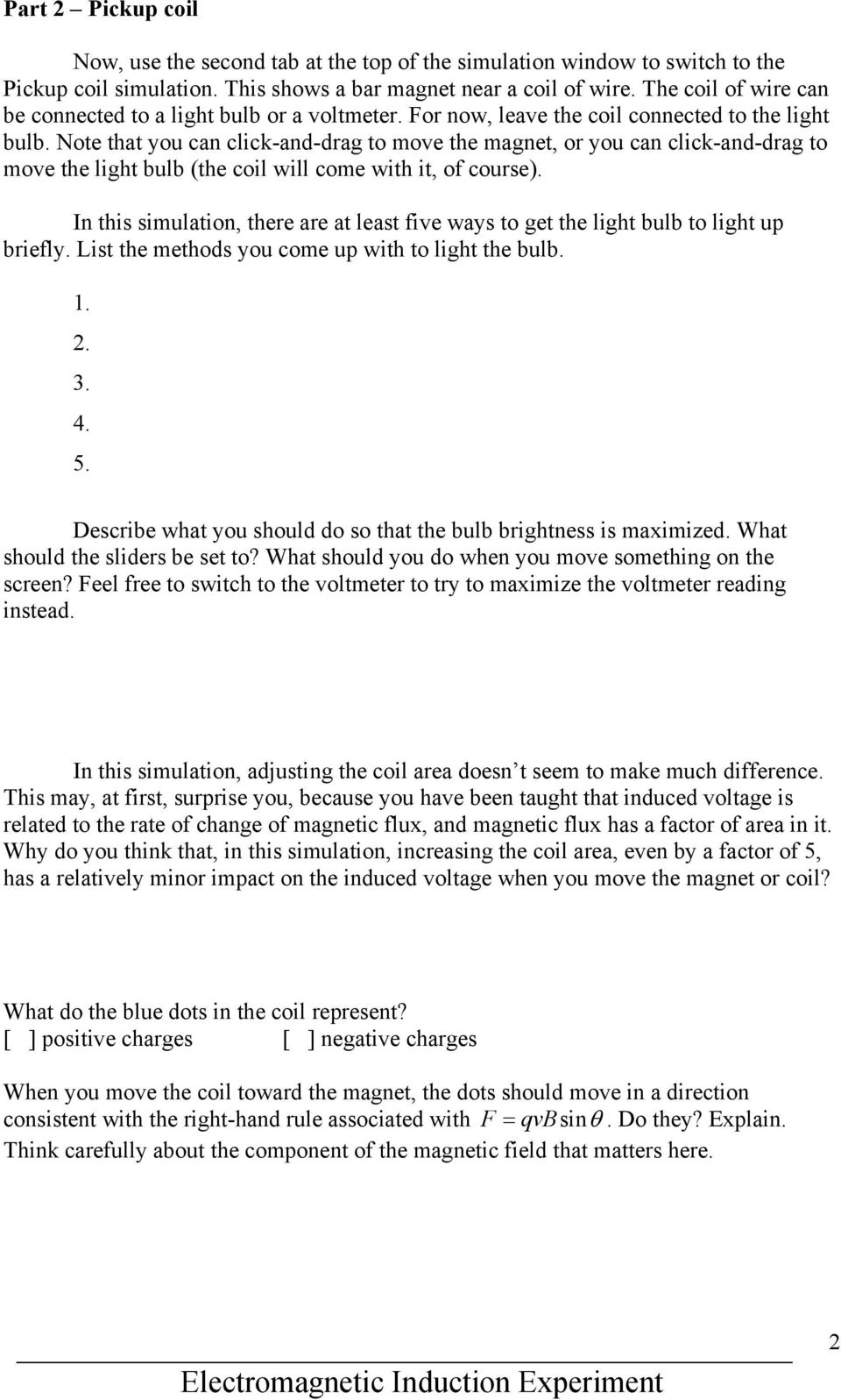 Electromagnetic Induction Experiment - PDF