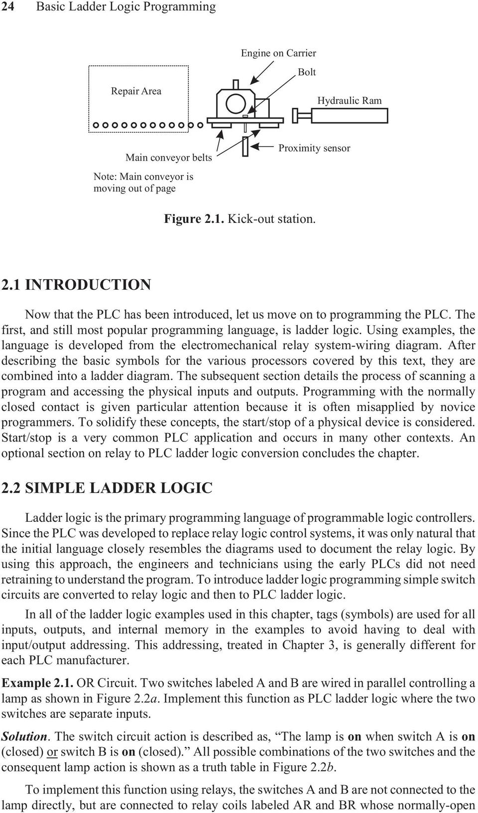 2 Basic Ladder Logic Programming Pdf Simple Relay Diagram Using Examples The Language Is Developed From Electromechanical System Wiring 3 22 Ldder