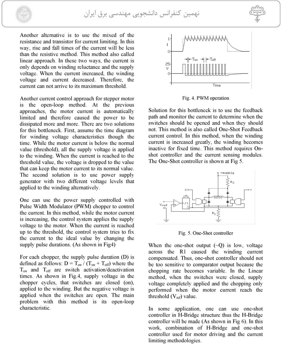 Micro Step Driving For Stepper Motors A Case Study Pdf Motor Control Circuit File Alternative Link Bidirectionmotorspeed When The Current Increased Winding Voltage And Decreased Therefore