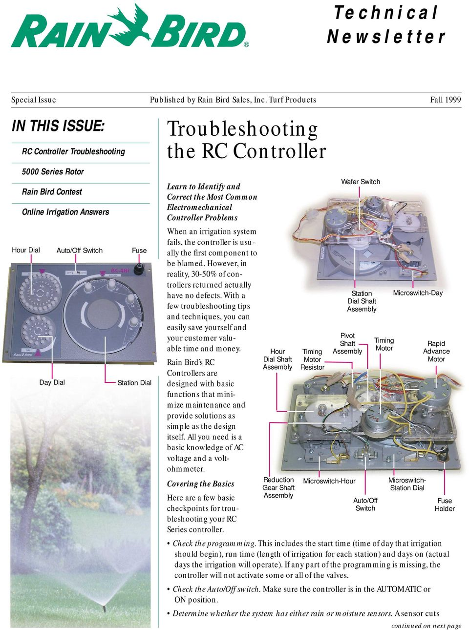 Troubleshooting the RC Controller - PDF on