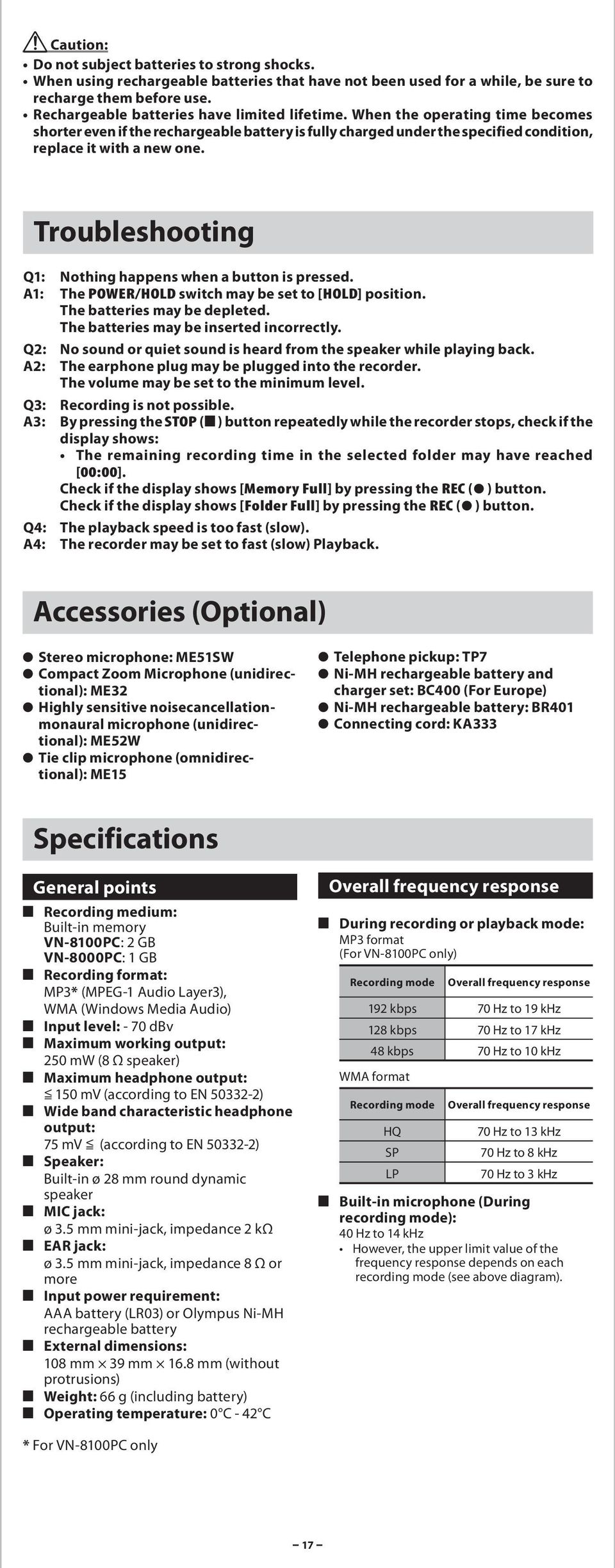 Vn8100pc Manual Briggs And Stratton 60500 Series Parts List Diagram Array Digital Voice Recorder Vn 8100pc 8000pc Pdf Rh Docplayer Net