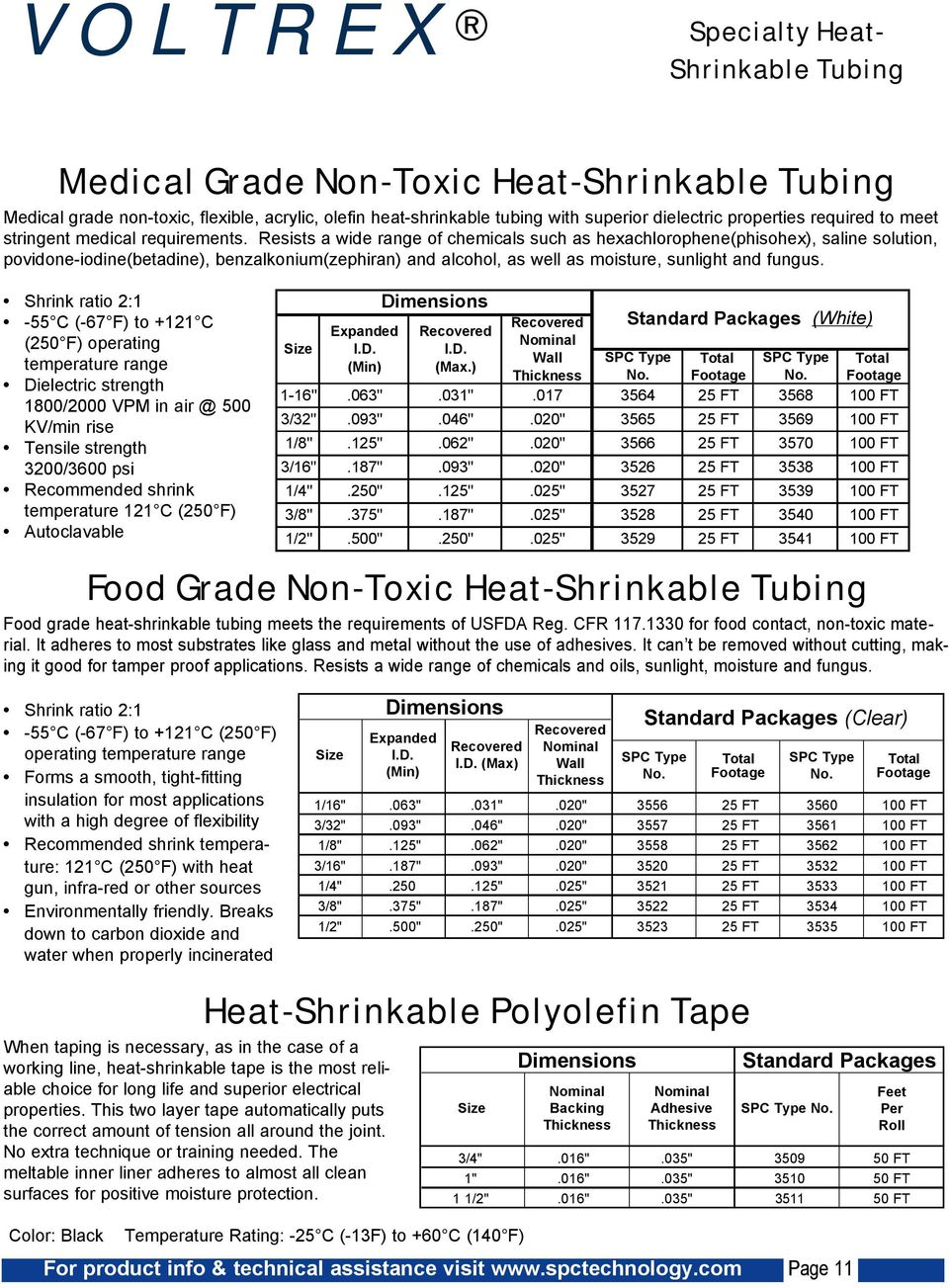 Clear Ratio 1.7 to 1-25ft 3//16 PTFE Heat Shrink Tubing