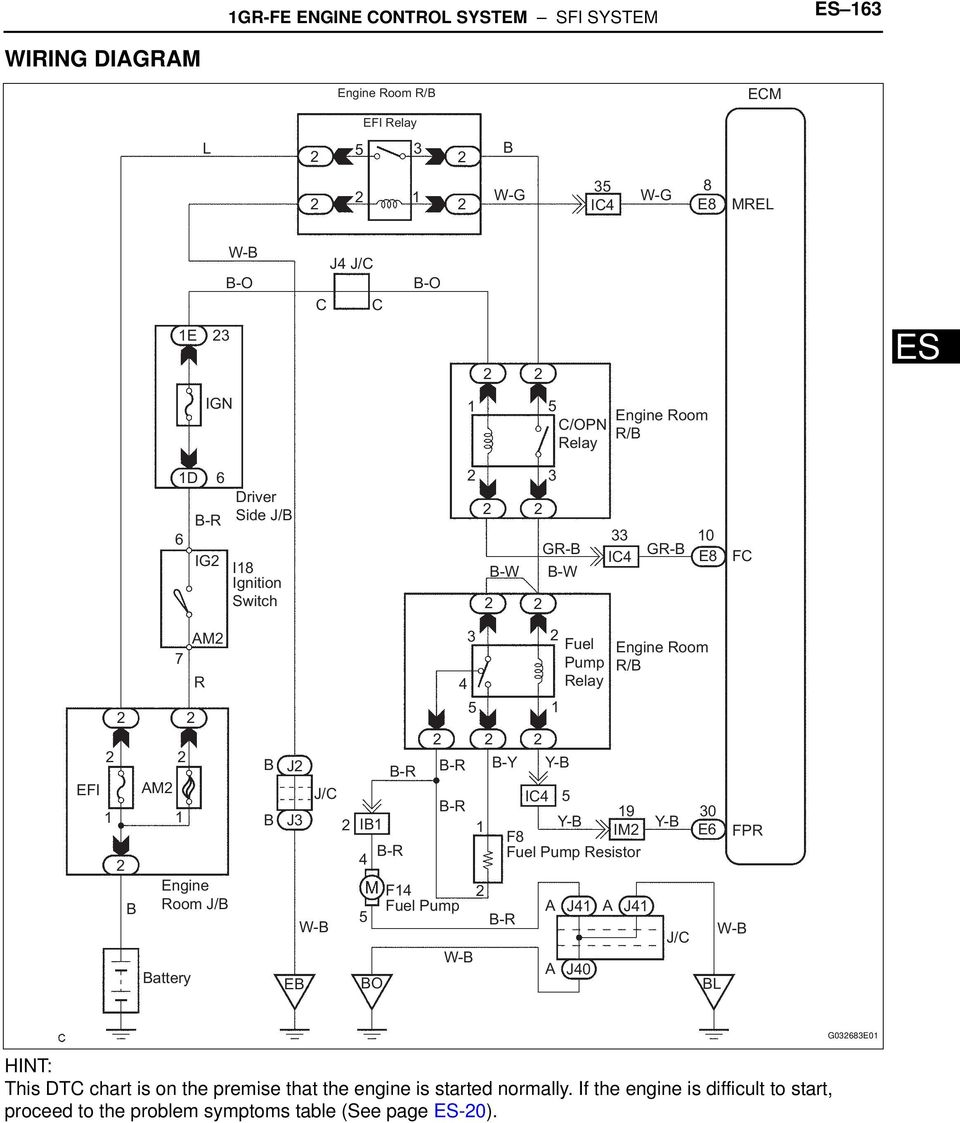 Dtc P0230 Fuel Pump Primary Circuit Pdf Toyota 1gr Fe Engine Diagram F4 4 3 W Y Relay Ic4 9