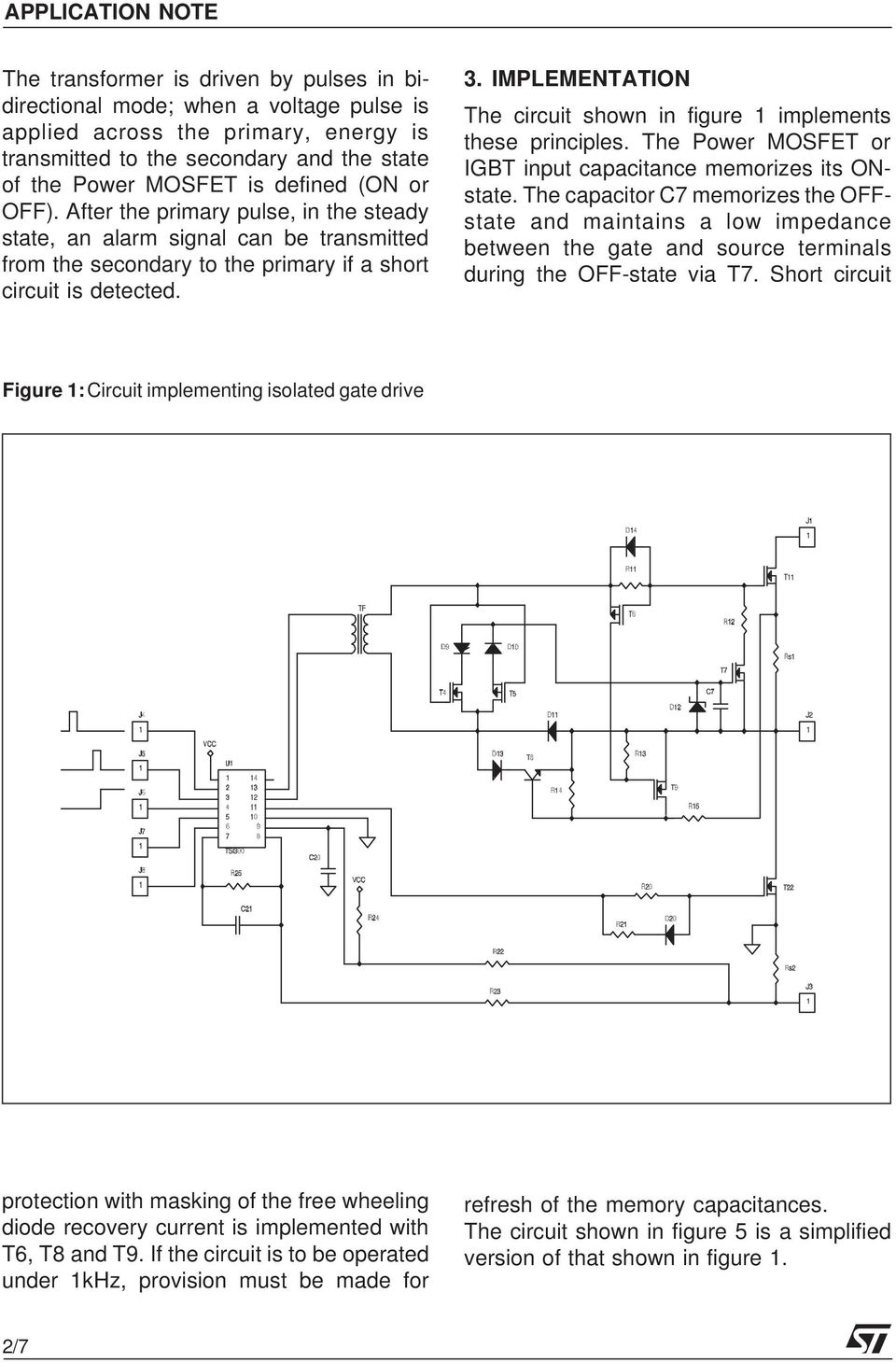 An Isolated Gate Drive For Power Mosfets And Igbts Pdf Mosfet Inverter Circuit Diagram Implementation The Shown In Figure 1 Implements These Principles Or Igbt