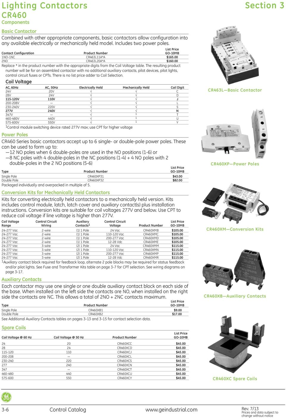 Contents Check Out This Useful Selection Tool On The Web Select A Chassis Branch Circuit Diagram For 208 Vac 20 Amp 3wire 1phase U Resulting Product Number Will Be An Assembled Contactor With No Additional Auxiliary Contacts