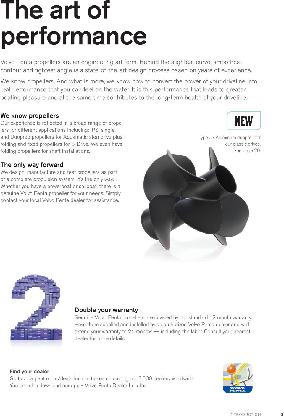 genuine volvo penta propellers features benefits and specifications