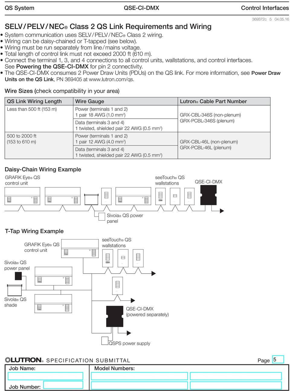 Qse Ci Dmx Control Interface Pdf Wiring Diagram Connect The Terminal 1 3 And 4 Connections To All Units Wallstations